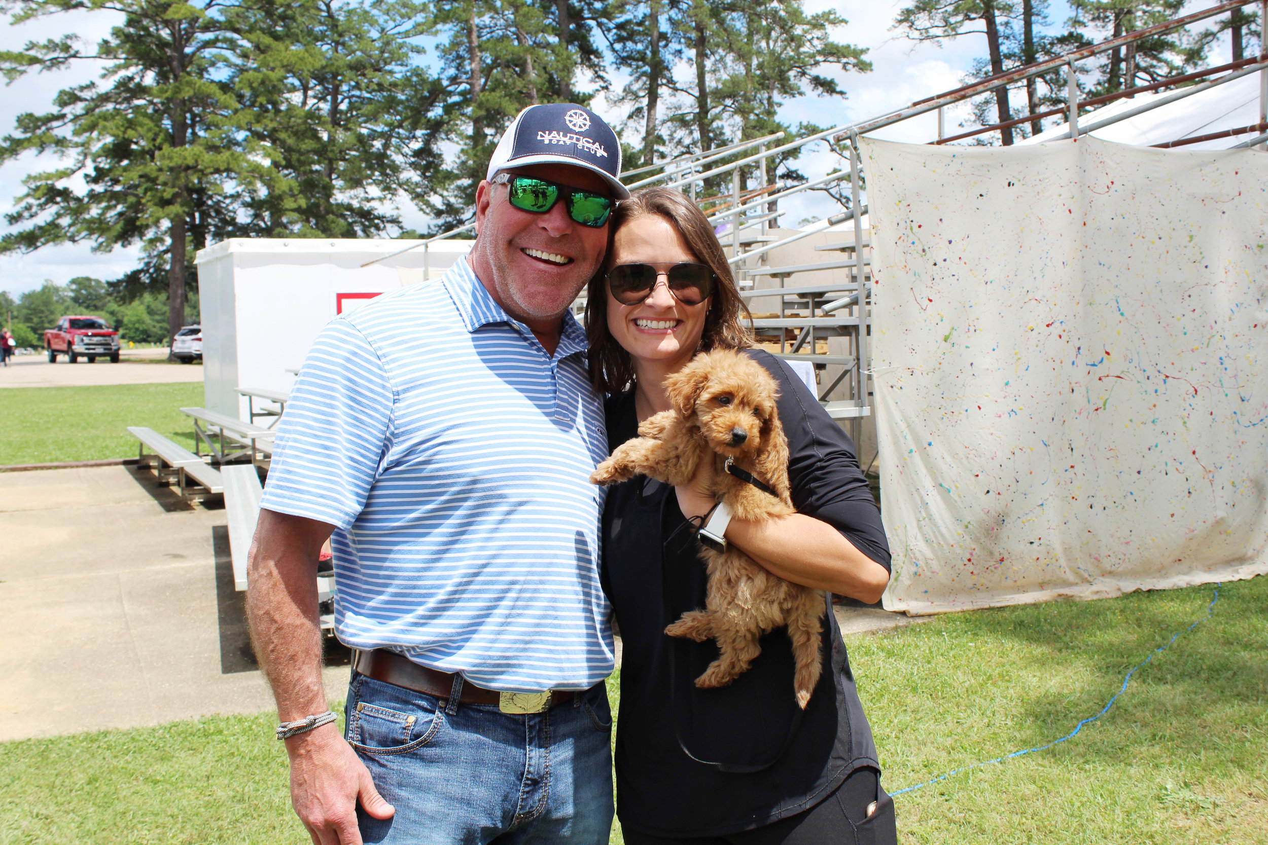 "Andy and Corie Woodman with ""Aspen"""