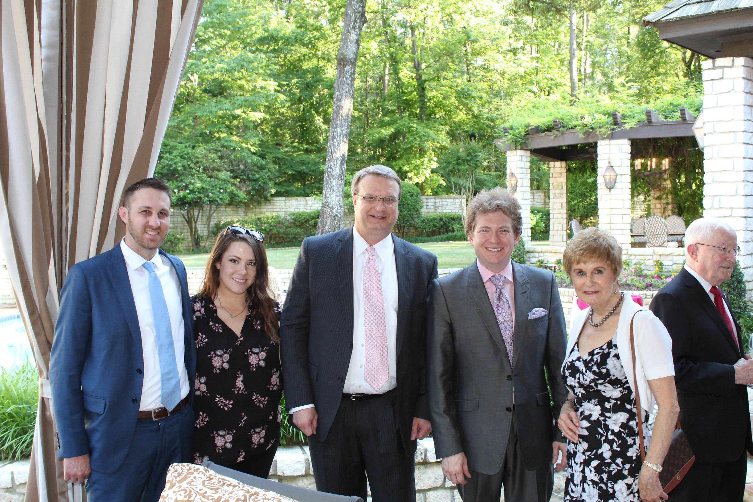 Jason and Lauren Ross, Andrew Clark, Philip Mann and Jo Kahler