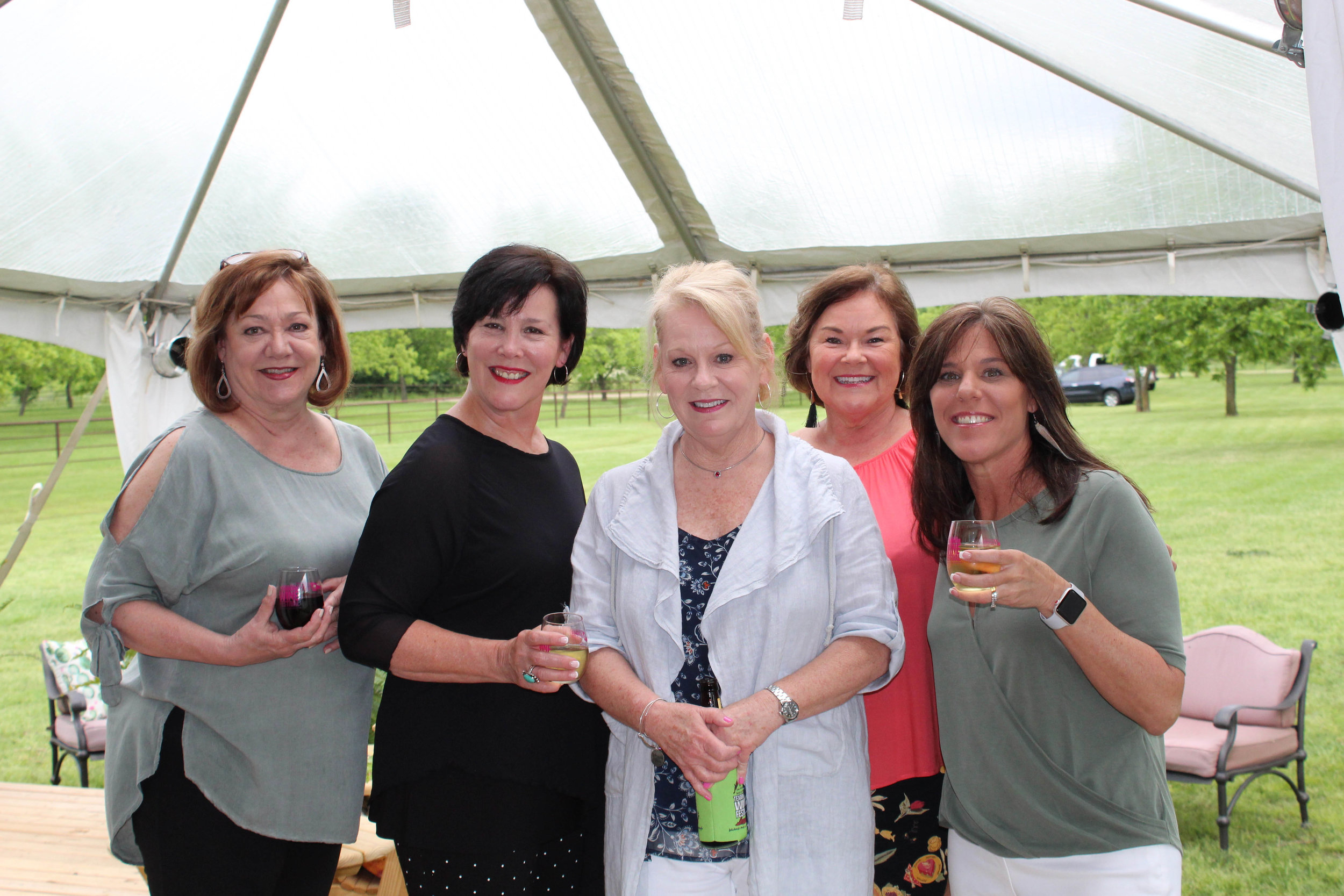 Nancy Barlow, Lynn Siegel, Terrie Arnold, Sally Stuart and Jill Launius