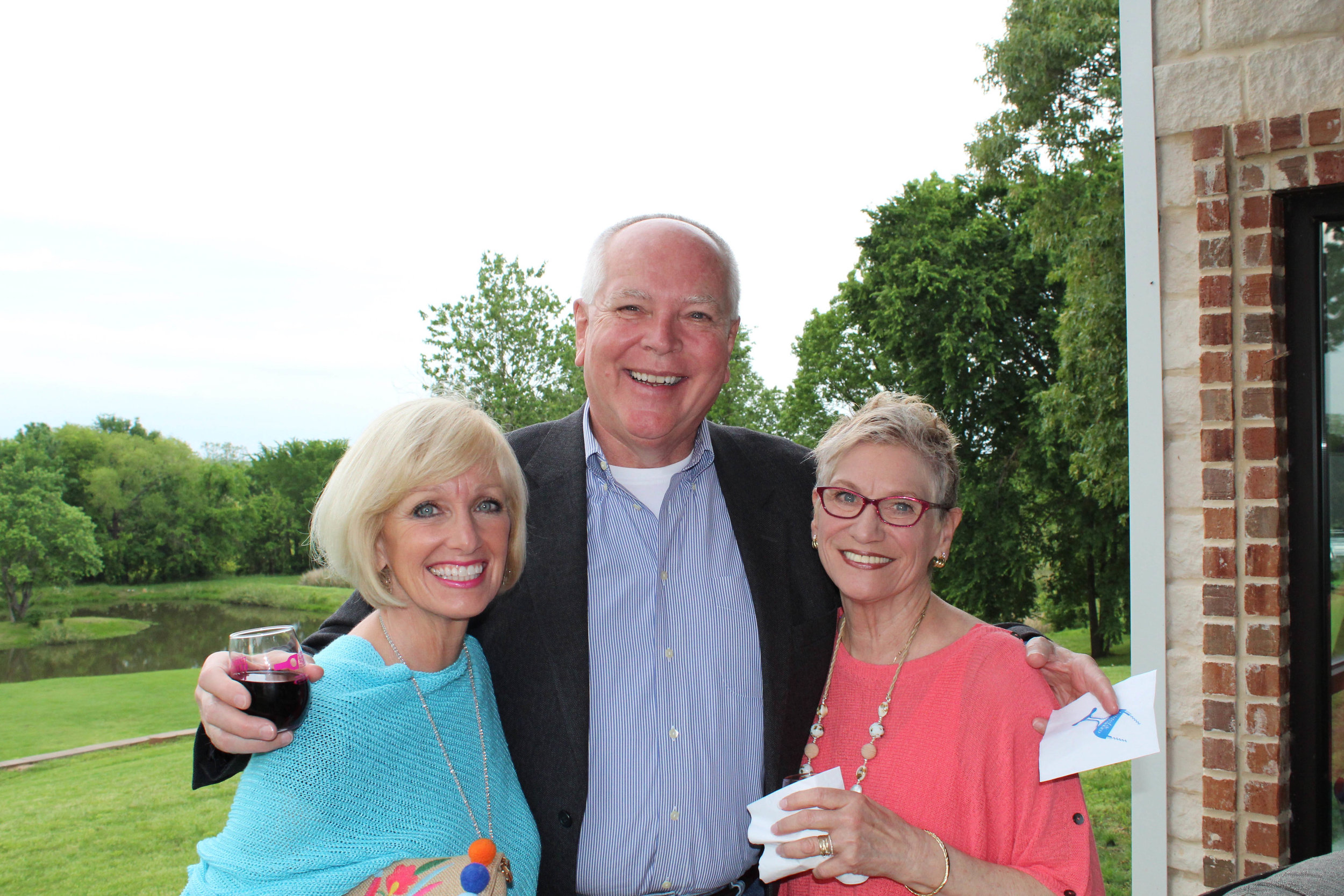 Rhonda and Jim Williston with Hilda Bishop