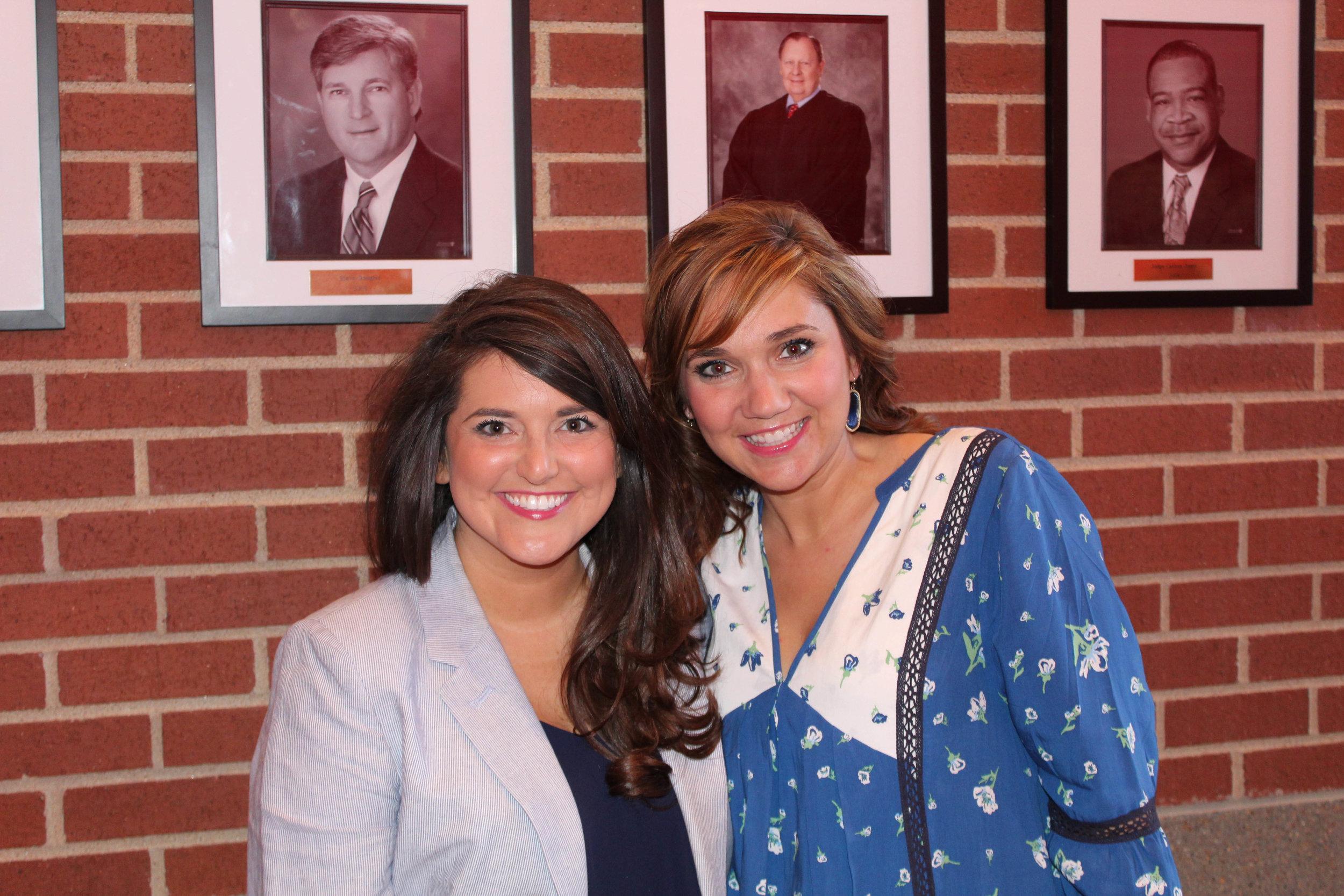 Samantha Bryant and Leah Sams
