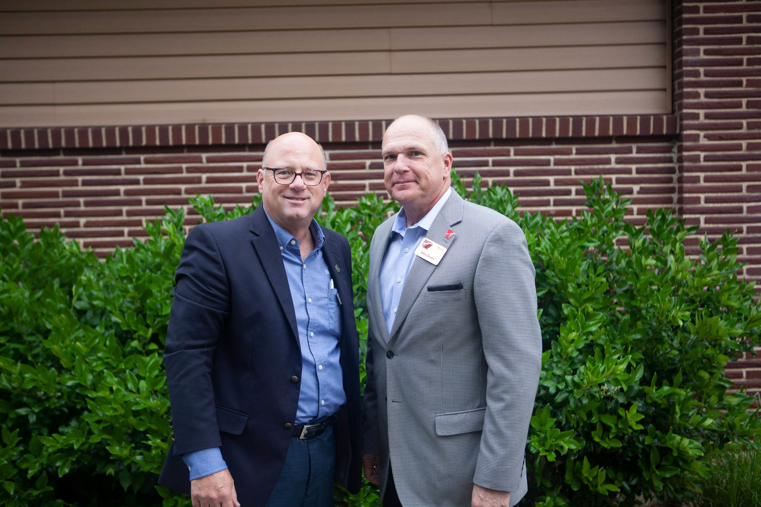 Mayor Bob Bruggeman and Mayor Allen Brown