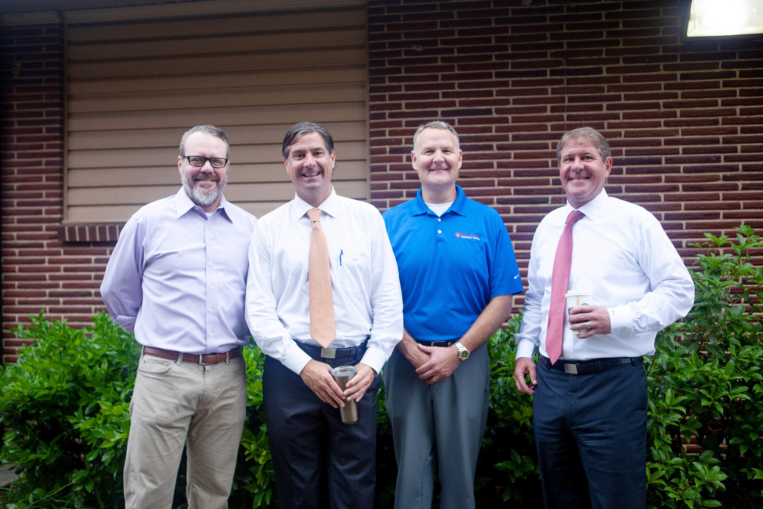 Dr. Erik Jacobsen, Thomas Fuqua, Dr. Matt Young and Vickers Fuqua