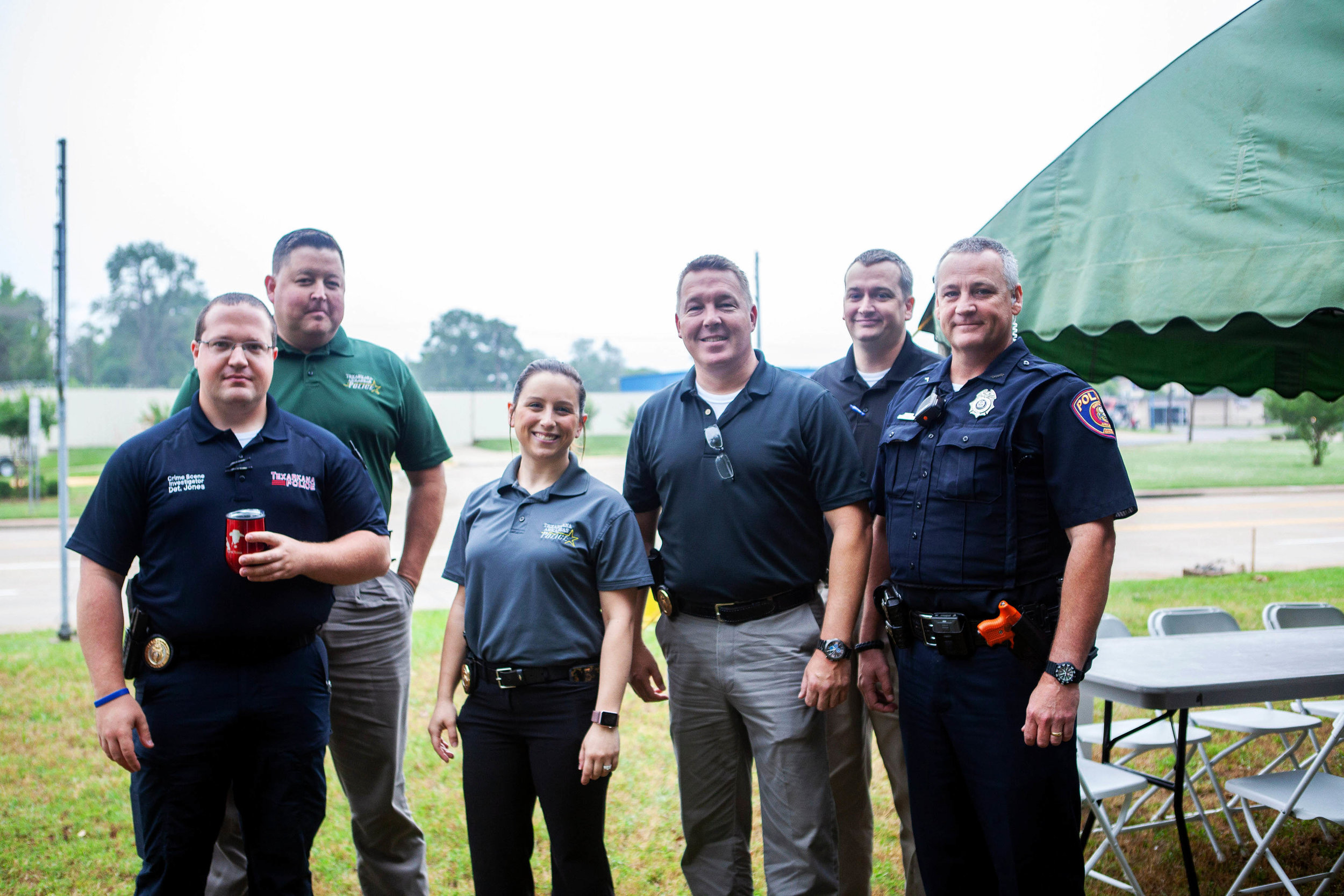Detective Josh Jones, Detective David Parker, Detective Kayla Cigainero, Detective Brett Gatlin, Detective Brian Tribble and Officer Alan Johnson