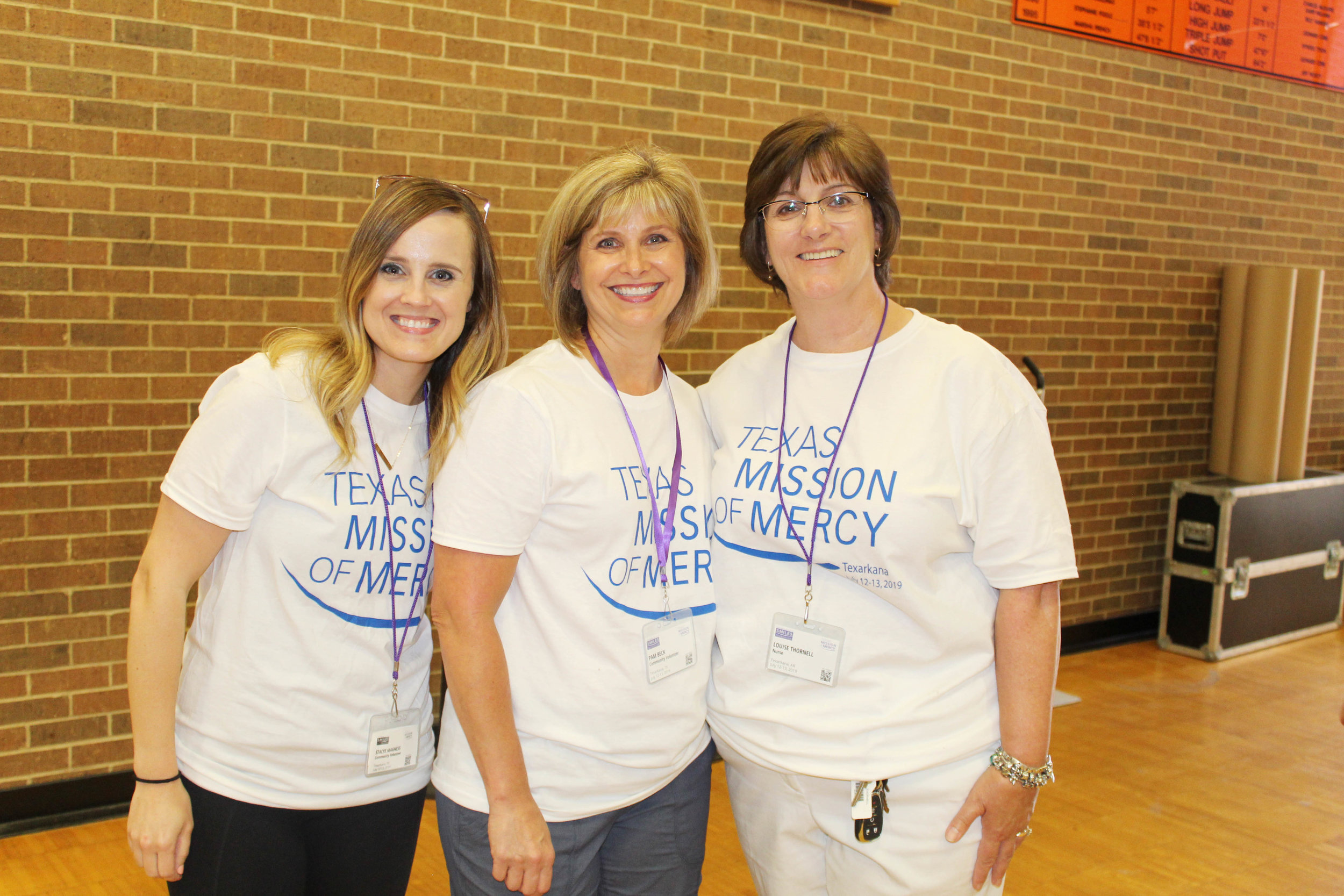 Stacye Magness, Pam Beck and Louise Thornell