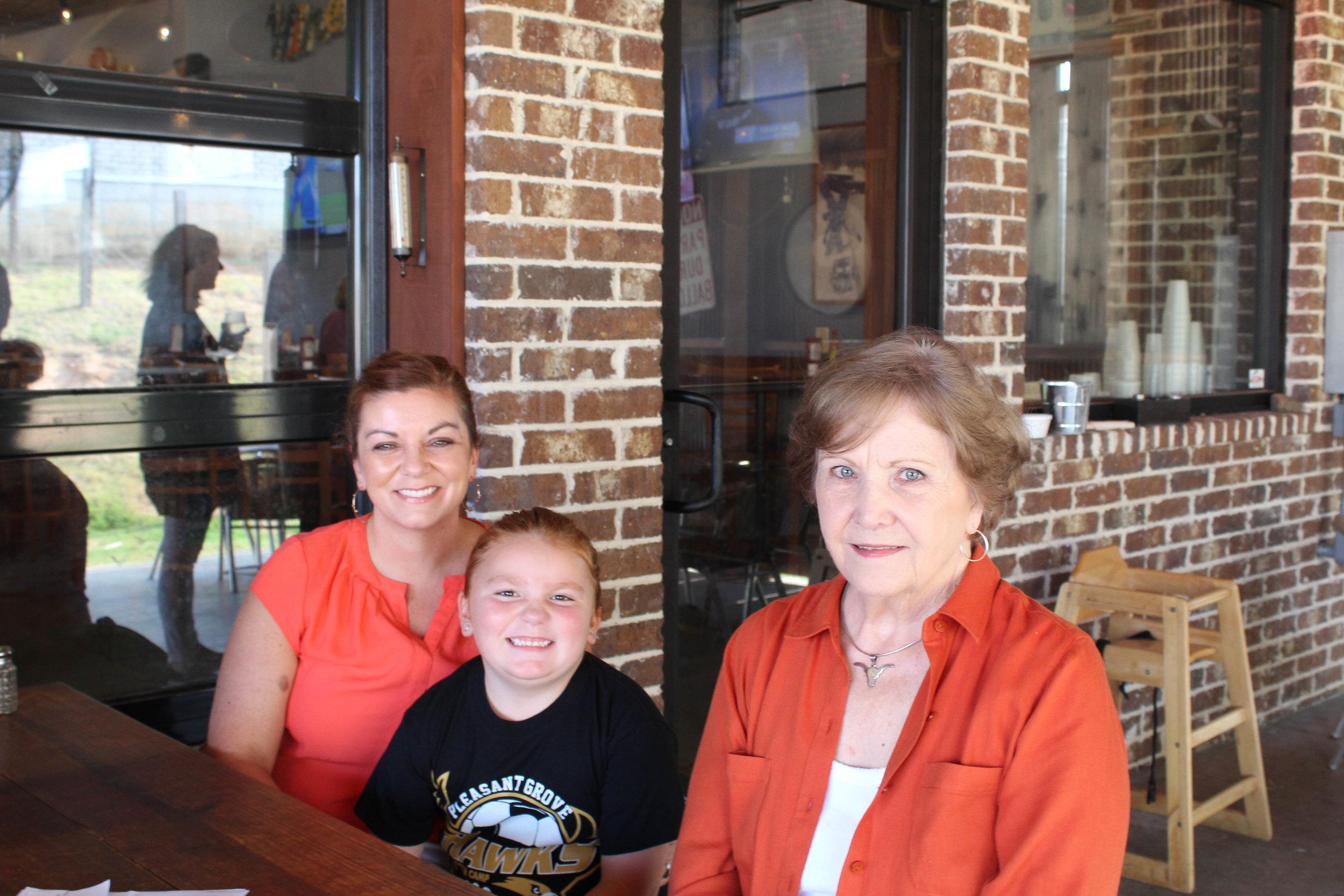 Casey  Rampy, Lela Rampy and Jane Rochelle