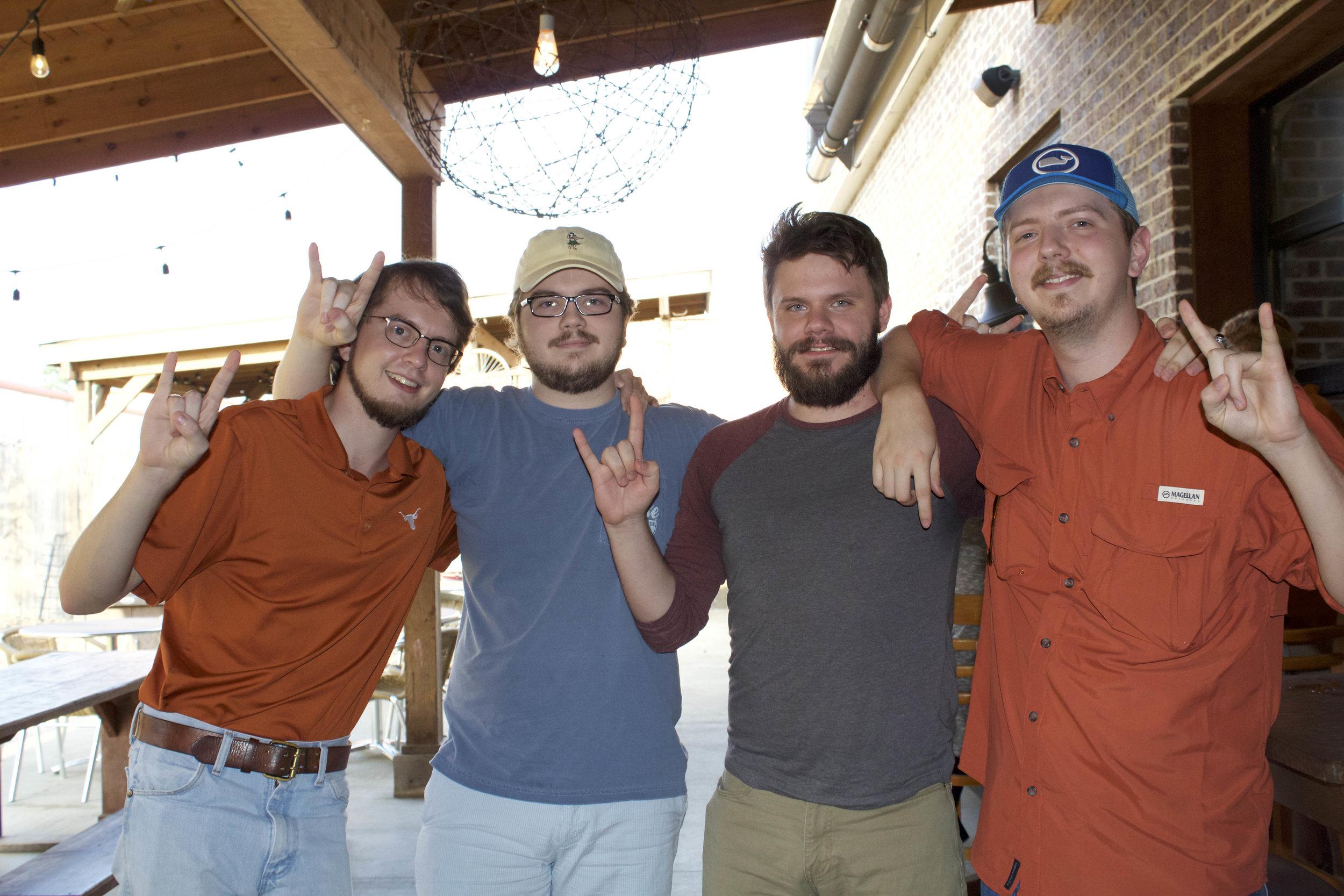 Mark Northam, Ben Northam, Nathaniel Hurst and Adam Northam