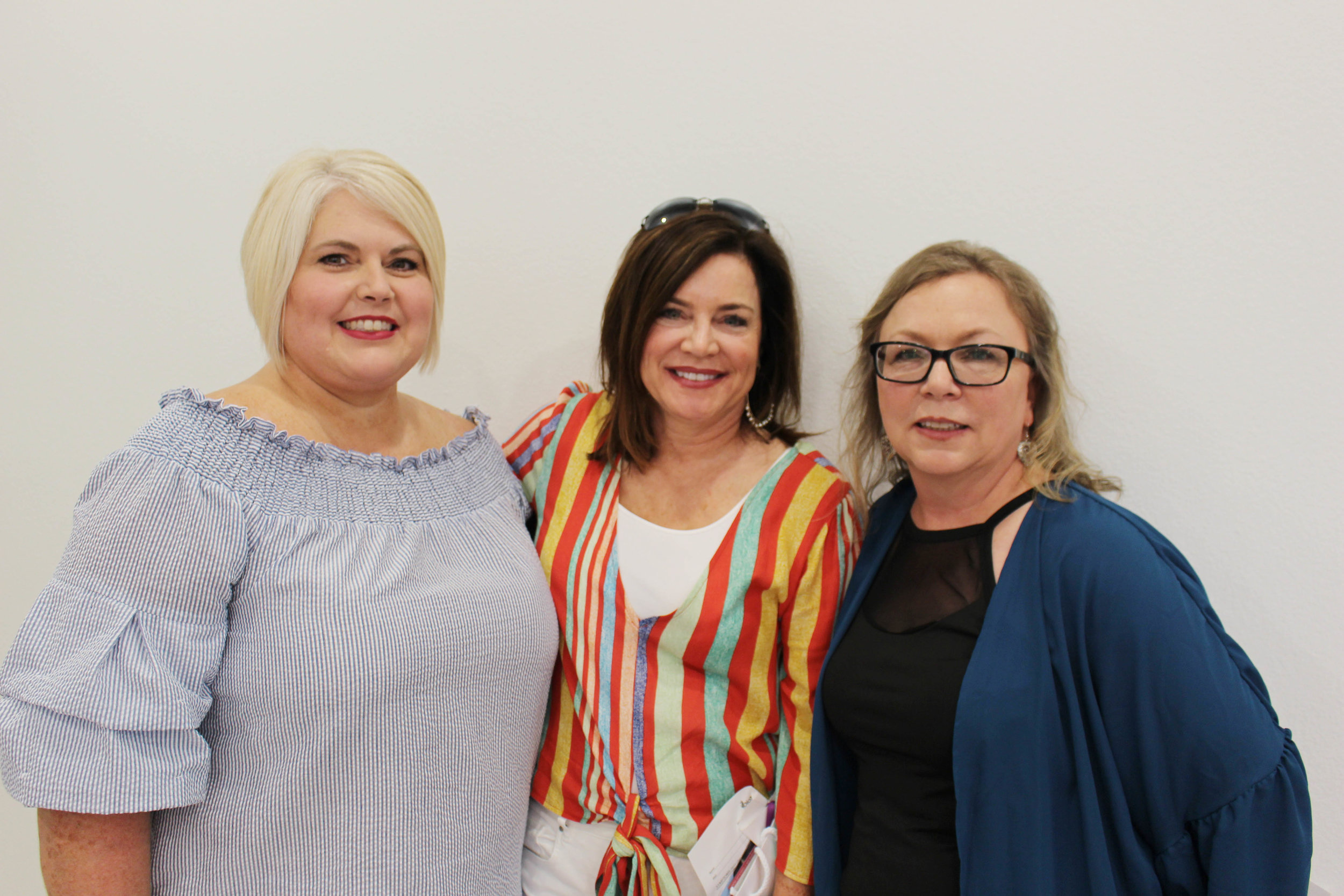Shona Gross, Brenda Dudley and Tammy Beggs
