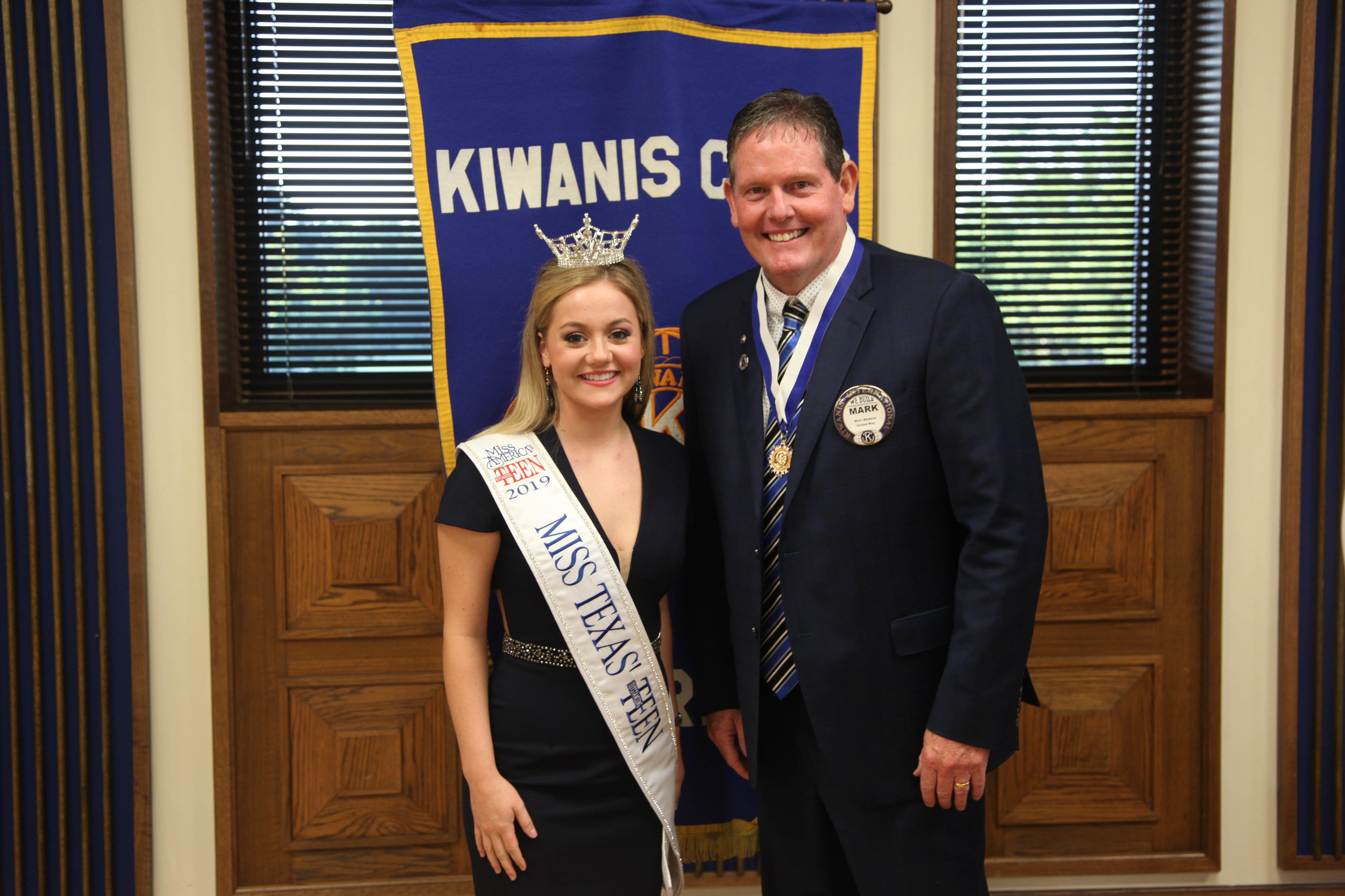 Miss Texas' Outstanding Teen Allie Graves and Mark Bledsoe