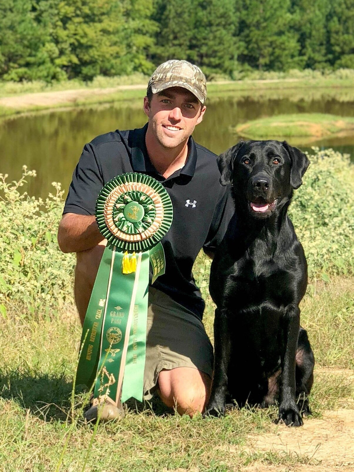 Greg with Clyde, after passing the 2018 HRC international Cajun Grand. (Photo by Hannah Wren)