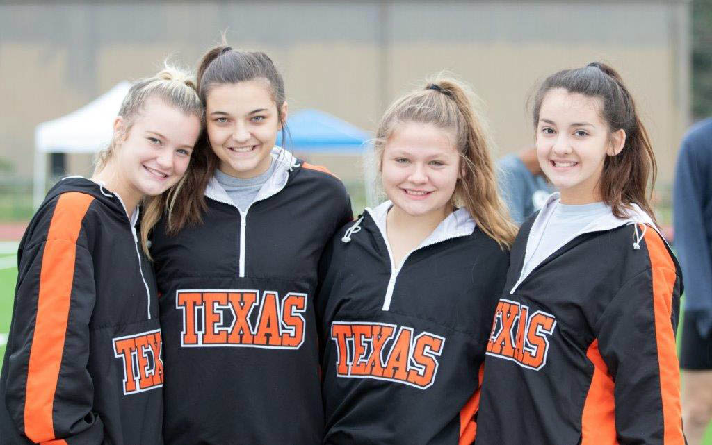 Texas High Cheerleaders Kenzie Adkins, Madison Givens, Adrienne Armstrong and Brandee Jordan are definitely a part of the success of Dash 4 Cash.