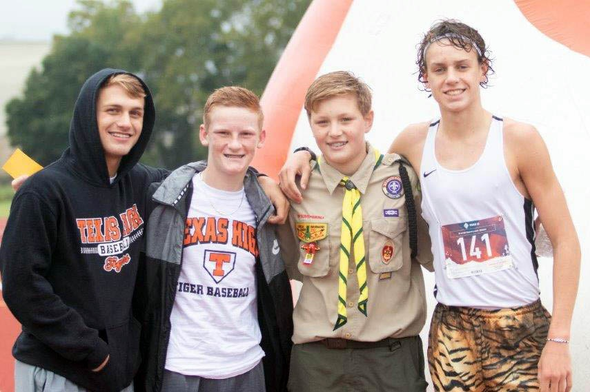 A rainy forecast didn't stop Ben DePriest, Trey Lavender, John Thomas Borowitz and Owen Likins from taking part in last year's Dash 4 Cash.