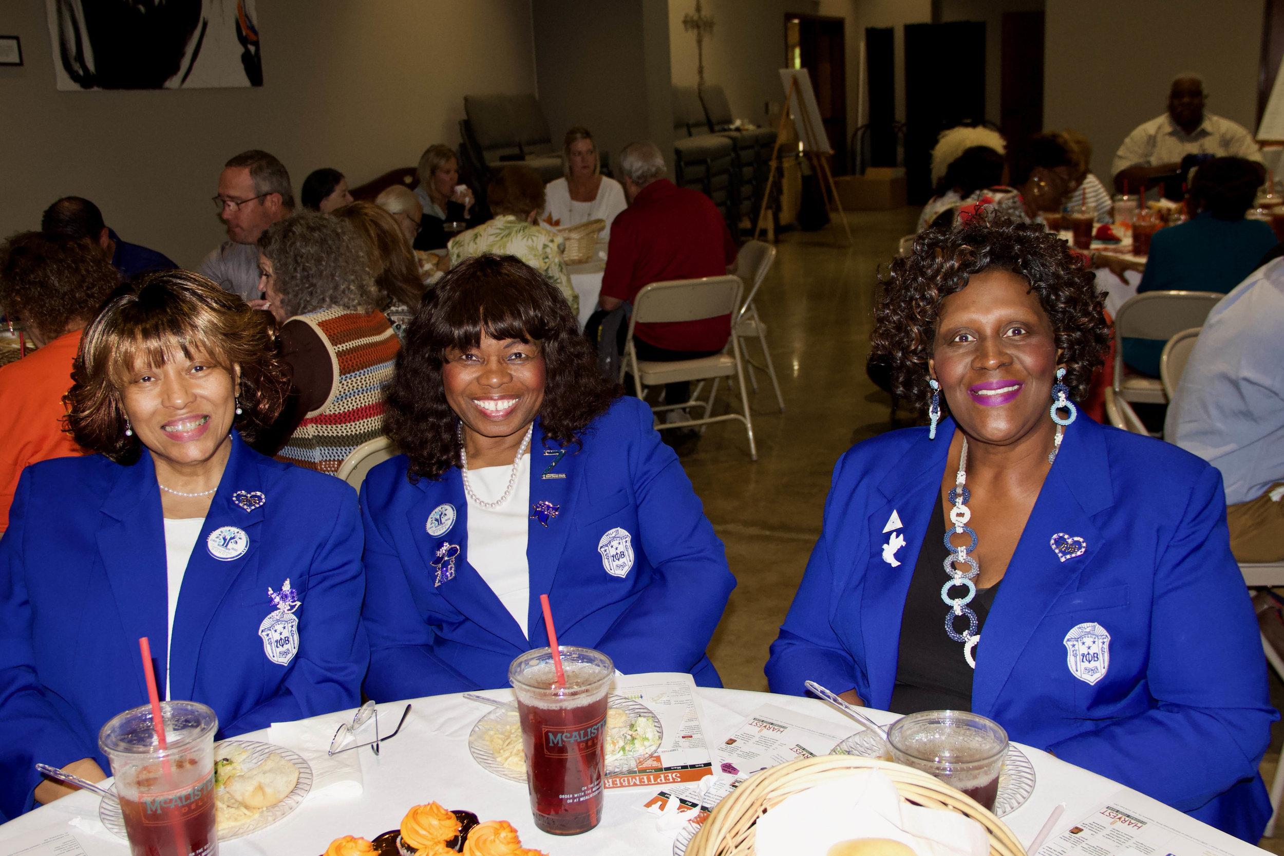 Jo Ann Rice, Maxine Crittenden and Cynthia Henderson