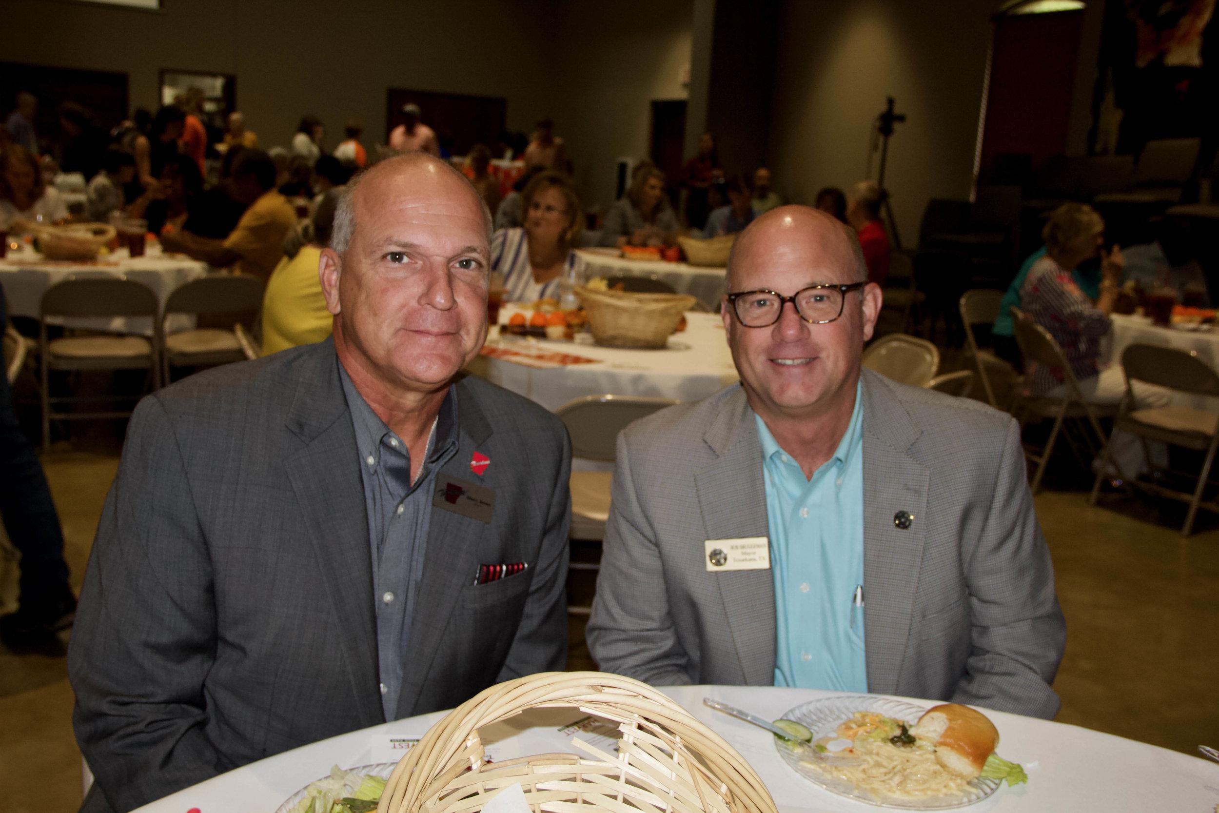 Mayor Allen Brown and Mayor Bob Bruggeman