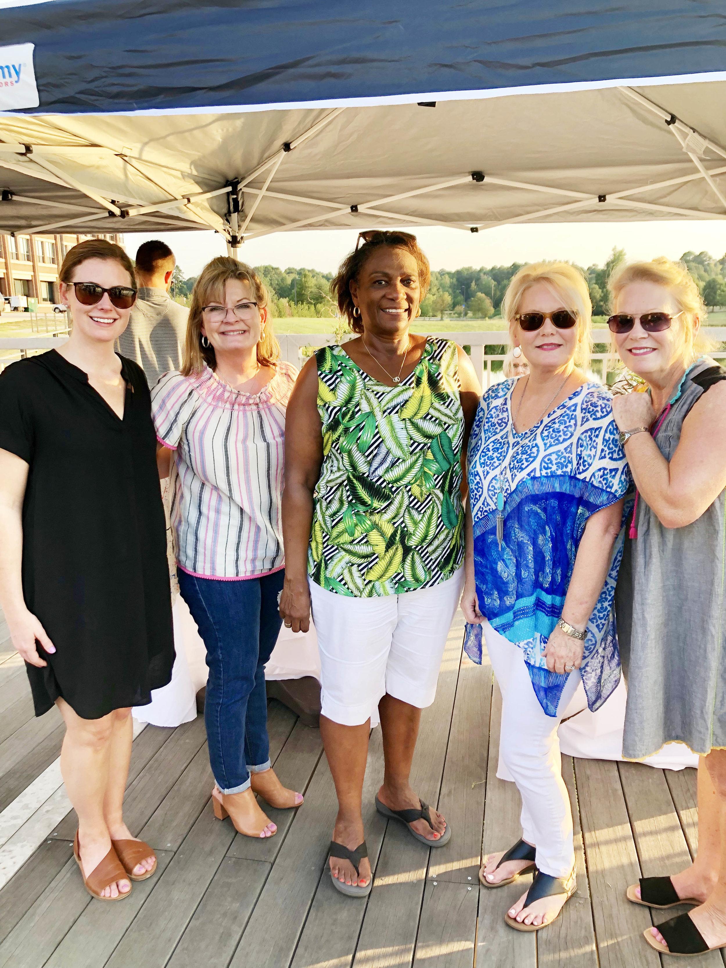 Lauren Richards, Brenda Sutton, Mary Washington, Jerri Raney and Terrie Arnold