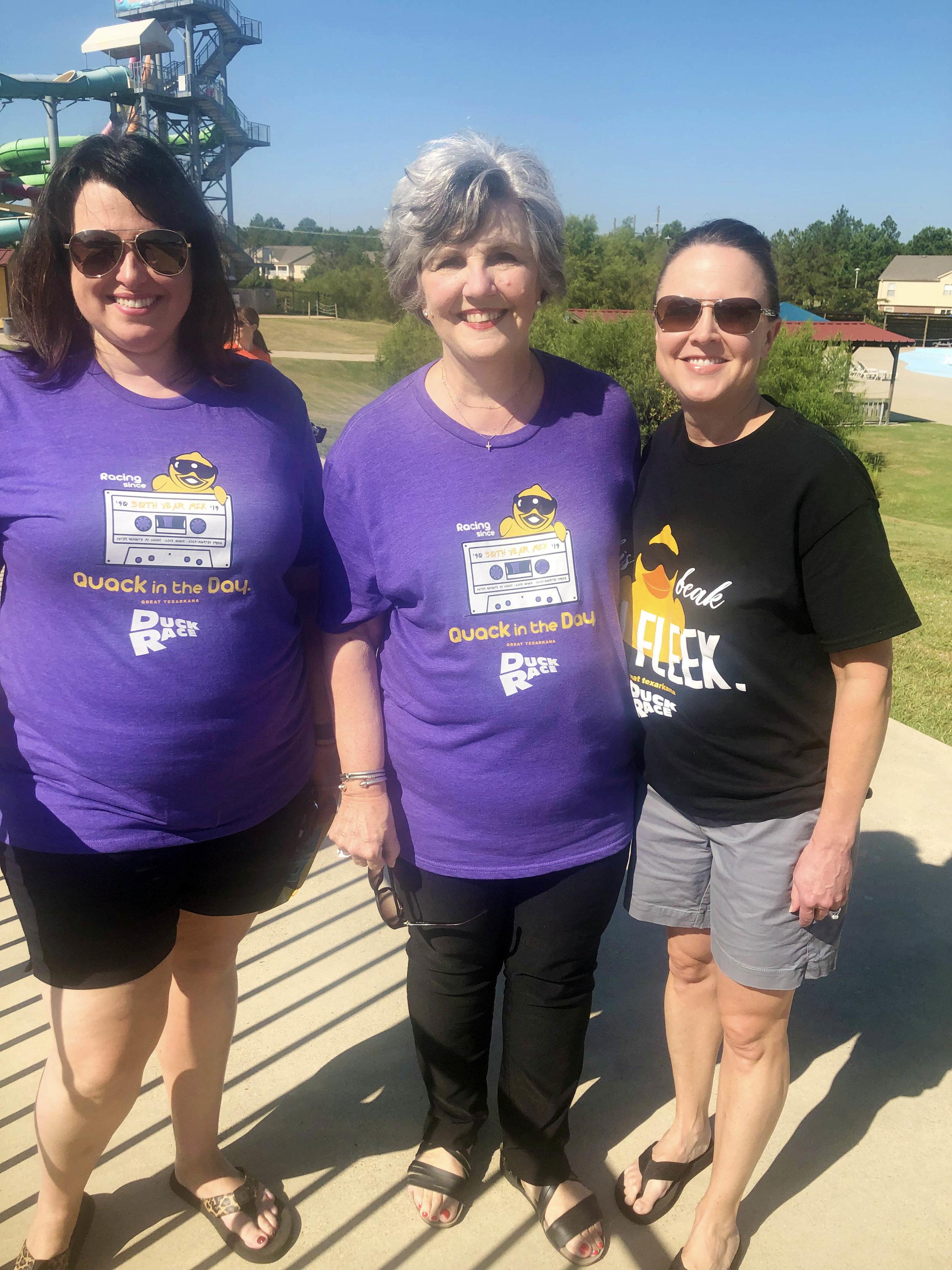 Karen Dillinger, Susan Landreaux and Jennifer Wright