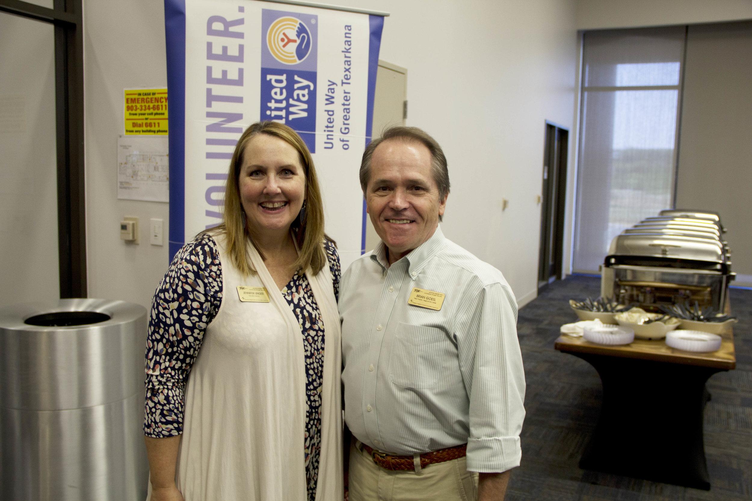 Jennifer Unger and Brian Goesl