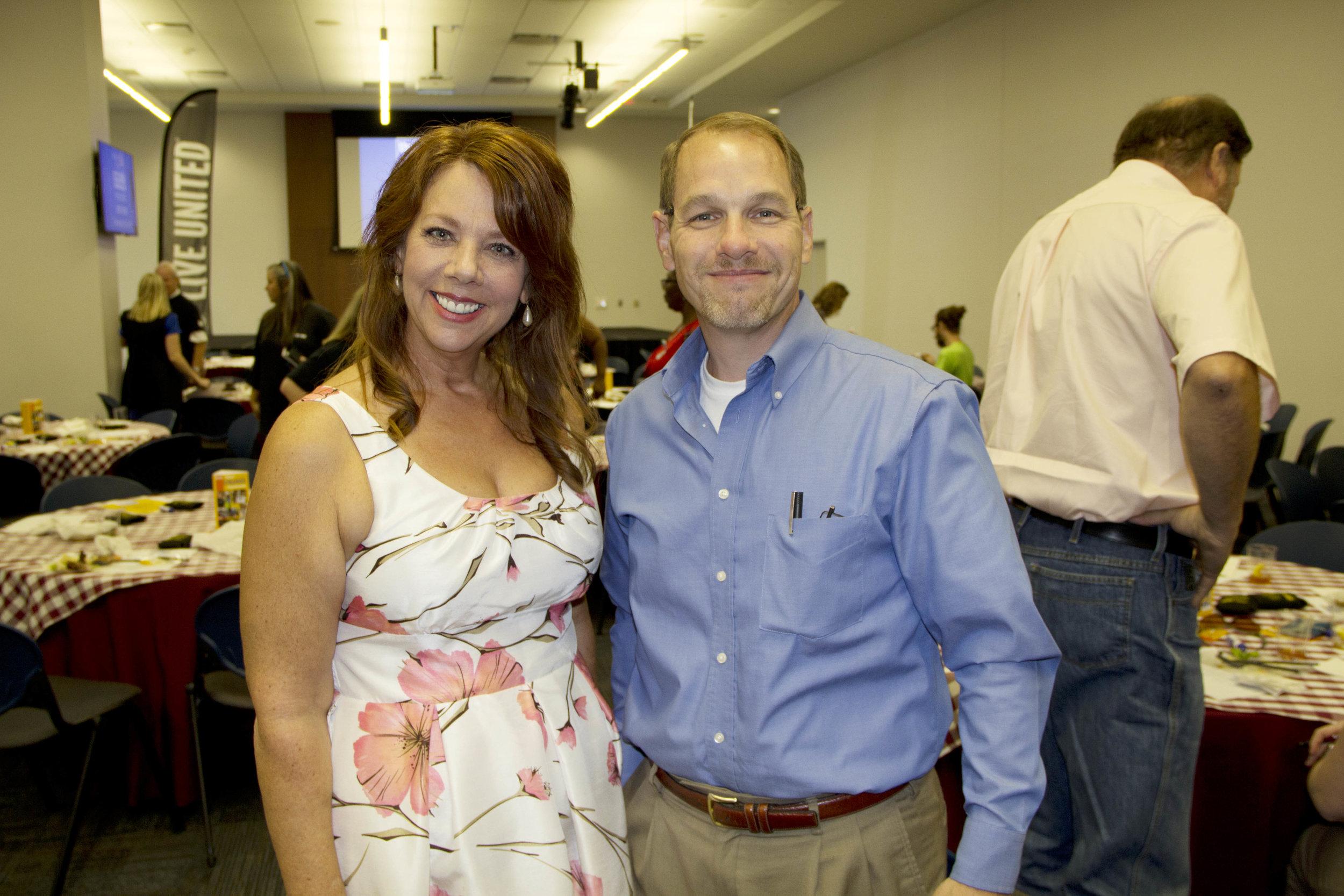 Michelle Walraven and Steve Morriss