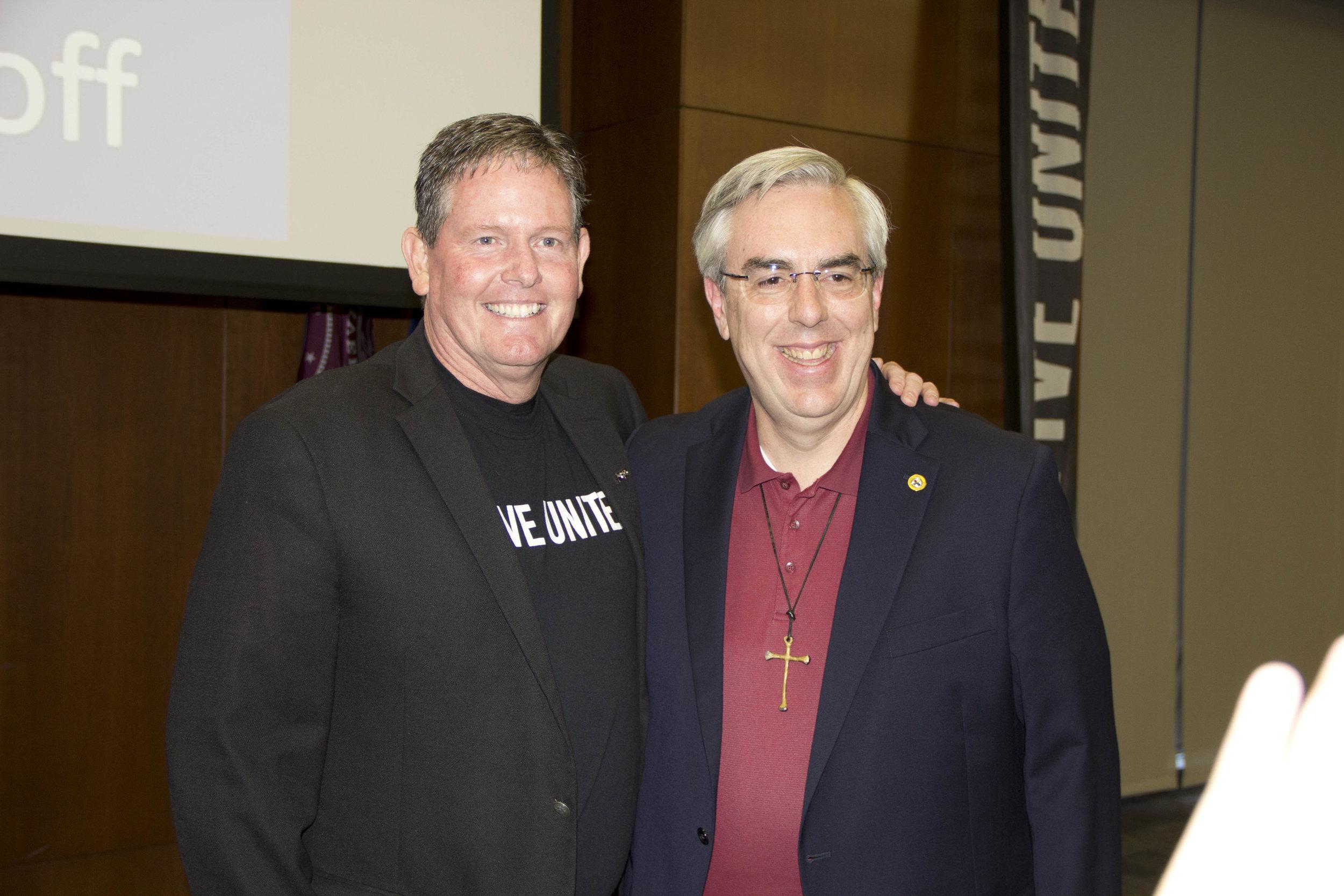 Mark Bledsoe and Dr. Brad Morgan