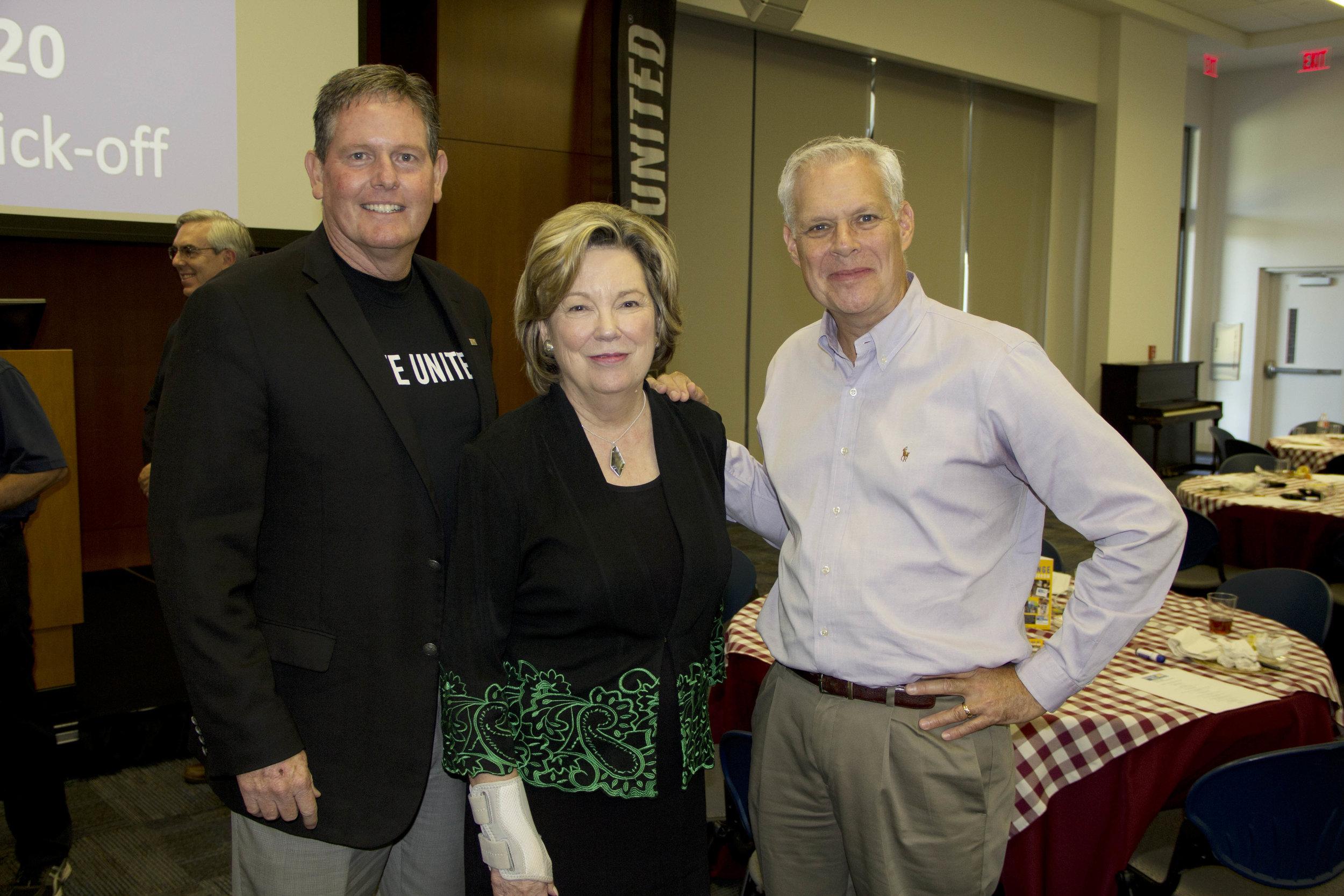Mark Bledsoe, Dr. Emily Cutrer and Robert Irwin
