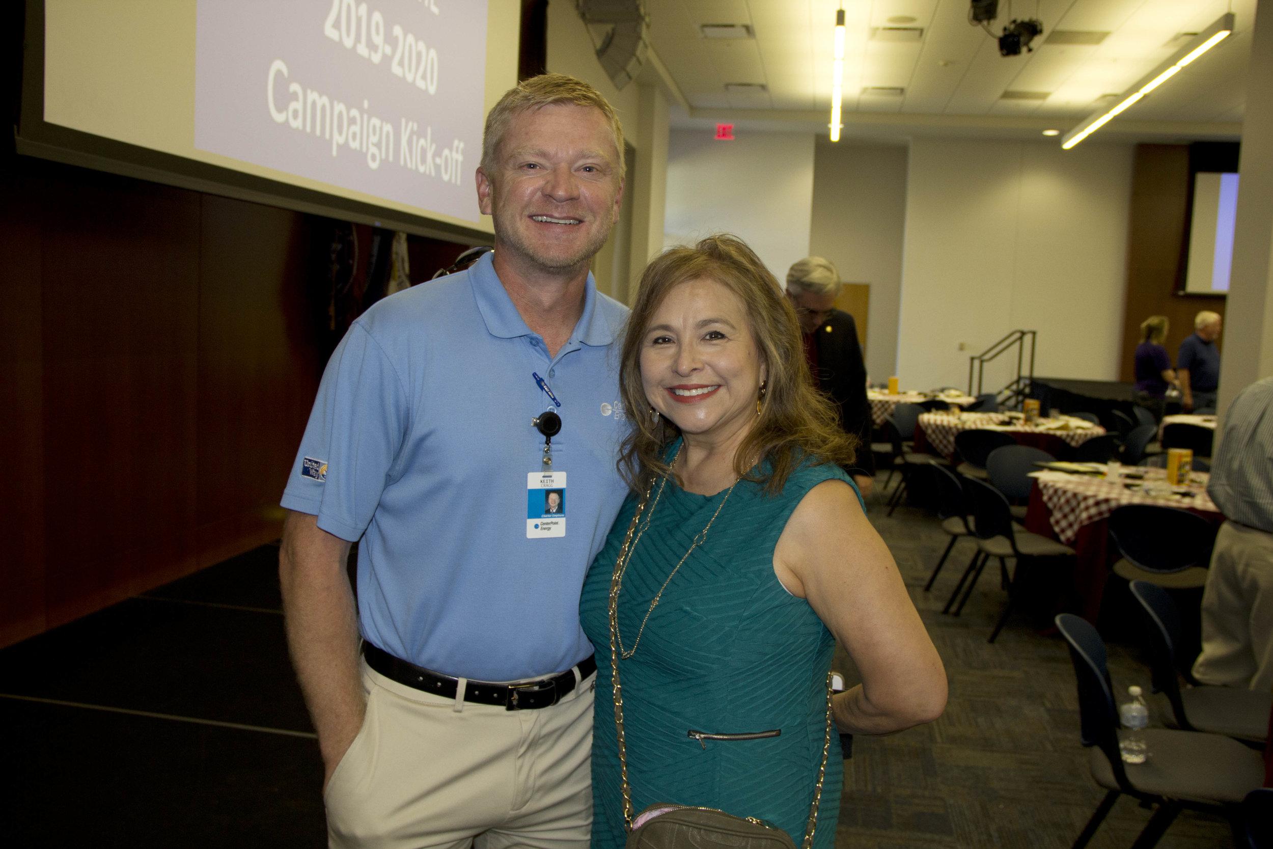 Keith Cragg and Mary Wormington