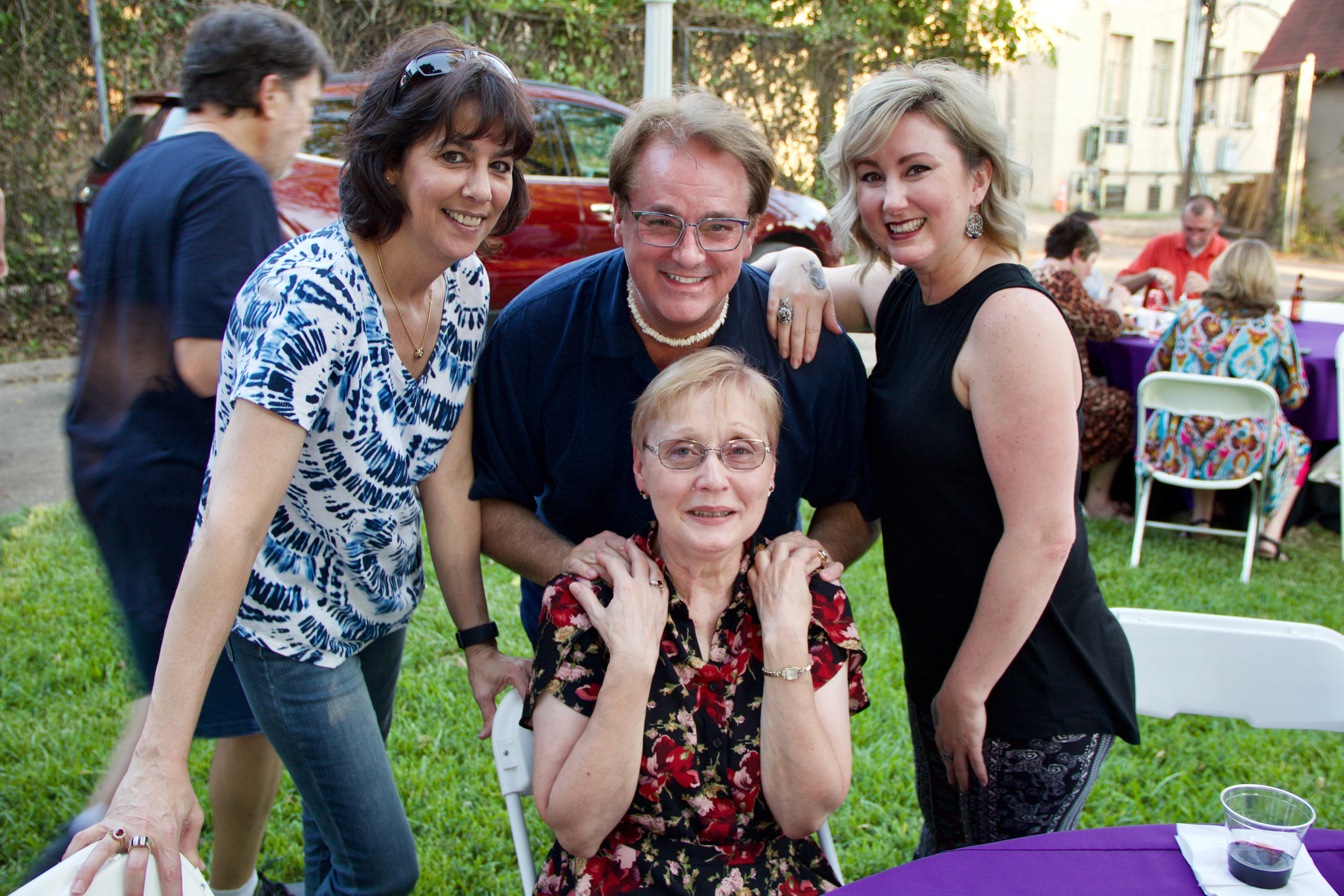 Karen Coulter (seated) with Amy Moore, Christopher Allen and Patty Lynn