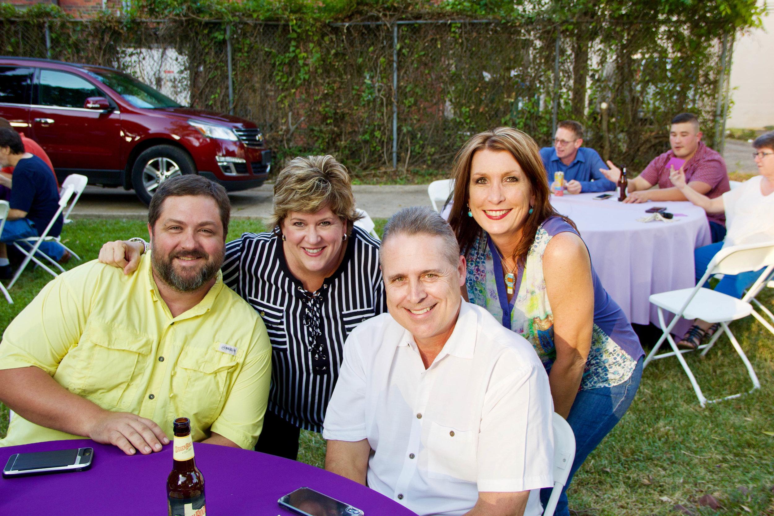 Scott Harris, Trish and Tim Reed and Lauree Romero
