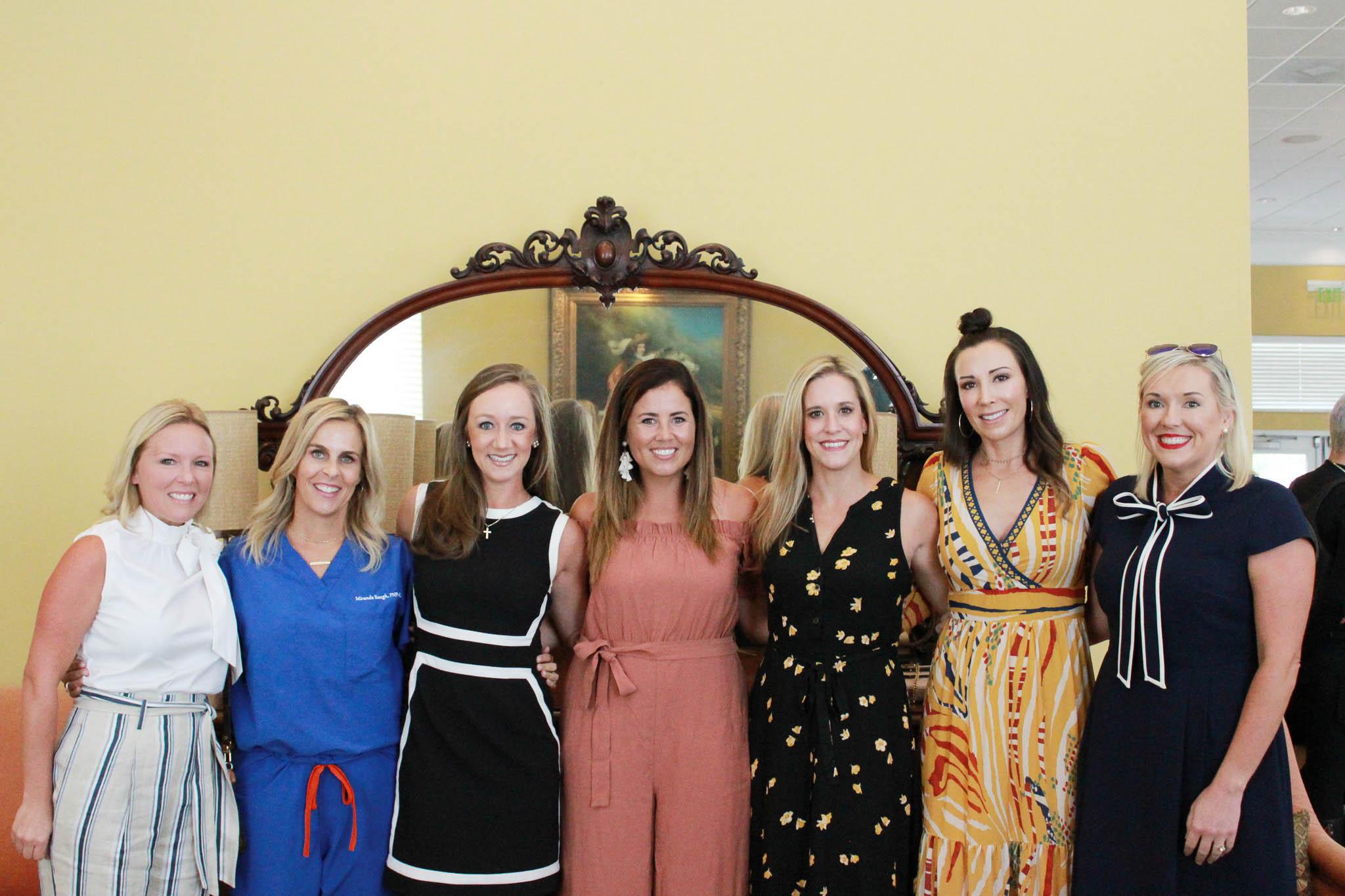 Danielle Patterson, Miranda Baugh, Clara Tengwall, Jessica Rich, Megan Menefee, Mindi Pruett and Cassy Meisenheimer