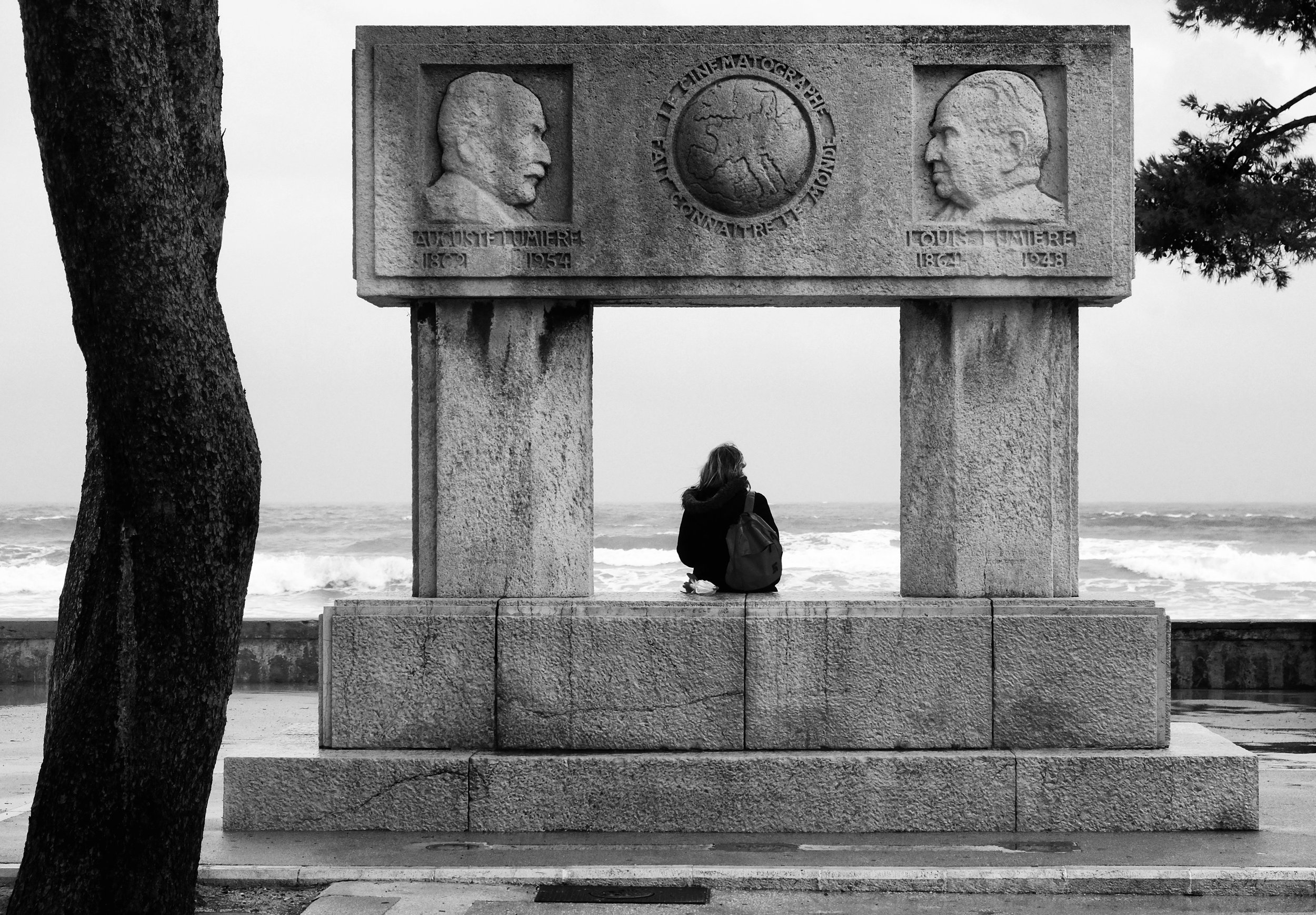 Statue dedicated to the Lumière brothers, who showed the first film ever in La Ciotat, France  Taken By: Dave Lyon - Dec 2017