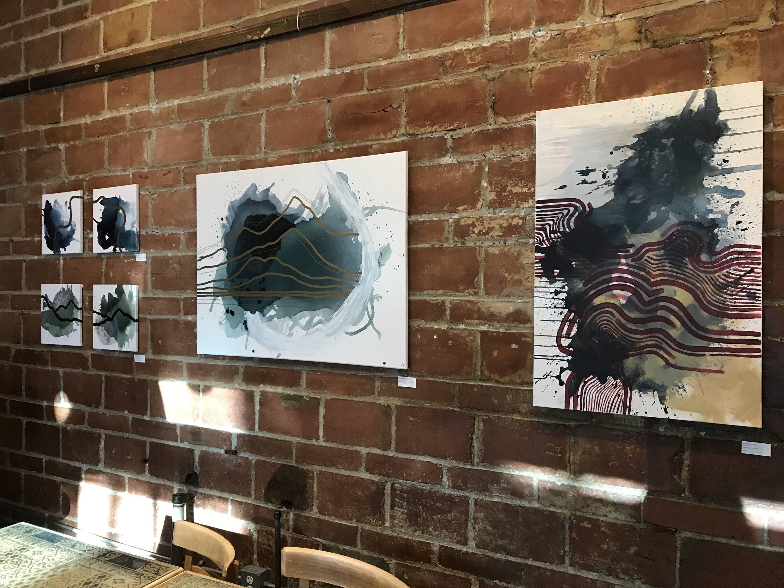 Artwork was on display at Cafe Allegro for the entire month of August. Established in 1975, Cafe Allegro is one of Seattle's oldest espresso bars and one of the country's finest Seattle-style coffee roasters.