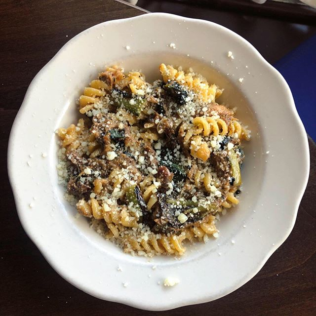 Feels a bit like fall out! So we added this to the menu. Fusilli with duck ragu, radicchio, and pecorino! #localitalian #fallfun #RADicchio #seasonal #local #ragu #pastaparty #stpaulfoodie #mnfoodie @waxwingfarmmn