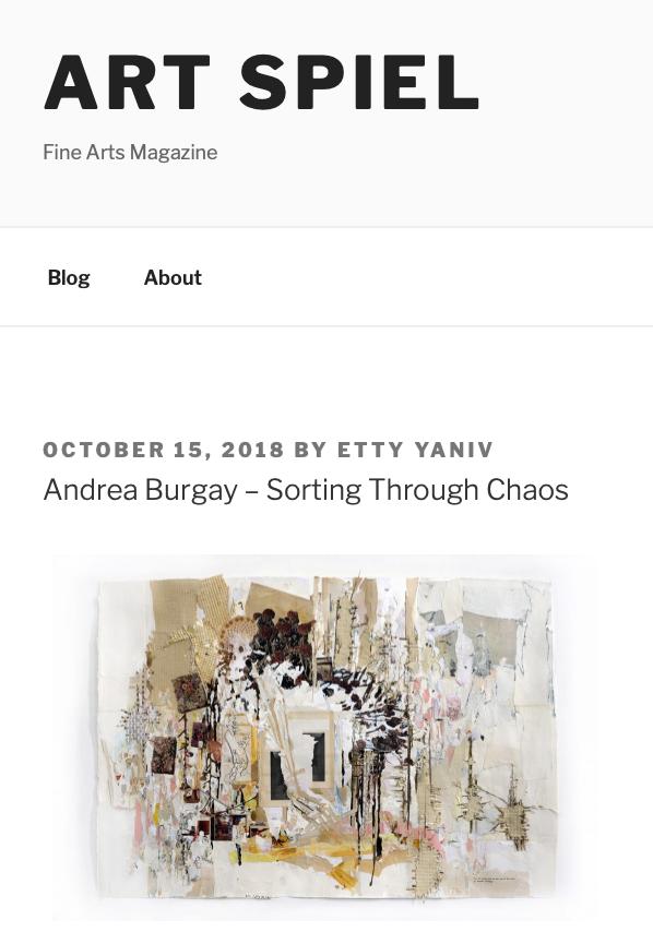 10/15/18 Interview with Etty Yaniv of Art Spiel