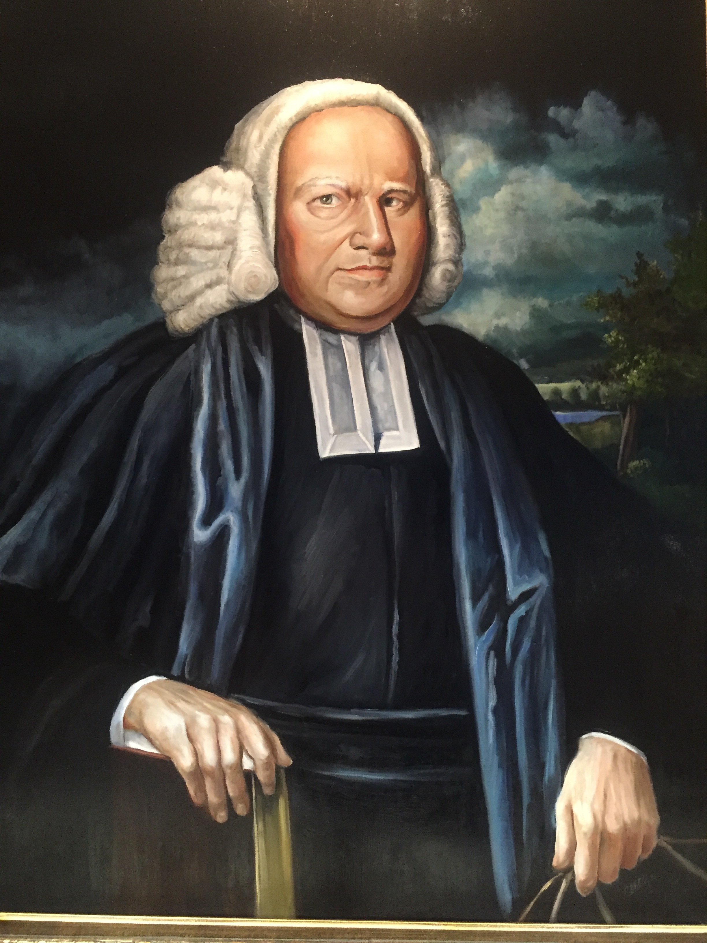 George Whitefield 36x48 Oil on Linen   Private Collection: Dr. Jason Allen, President of Midwestern Baptist Theological Seminary