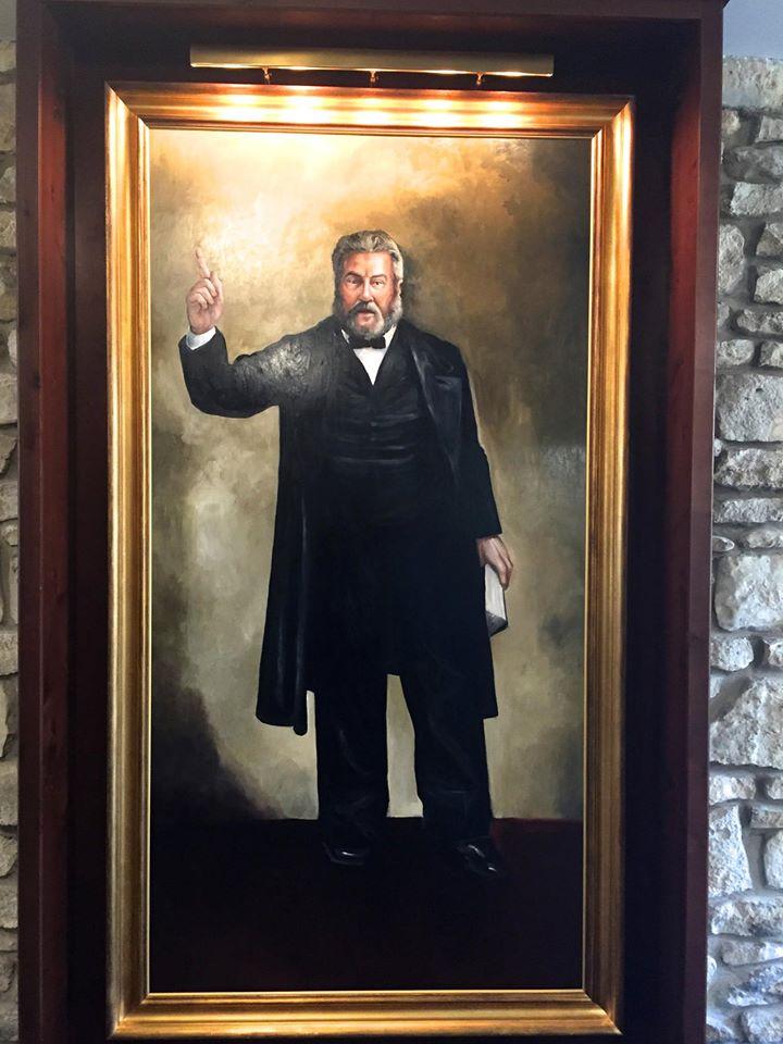 Charles H. Surgeon 4'x 8' Oil on Wood Panel  The Spurgeon Library, Midwestern Seminary, Kansas City, Missouri