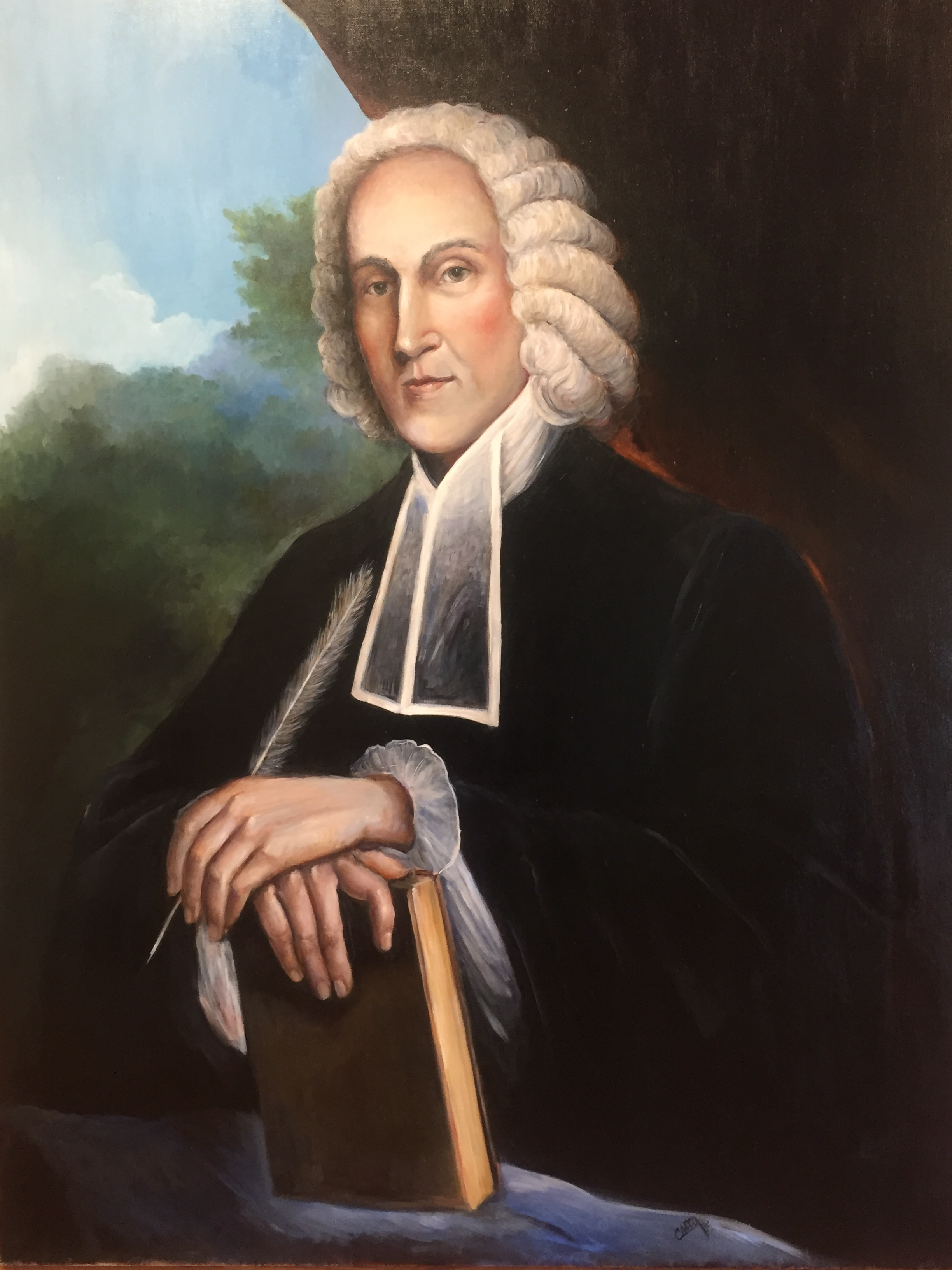 Jonathan Edwards 36x48 Oil on Linen  Private Collection: Dr. Jason Allen, President of Midwestern Baptist Theological Seminary