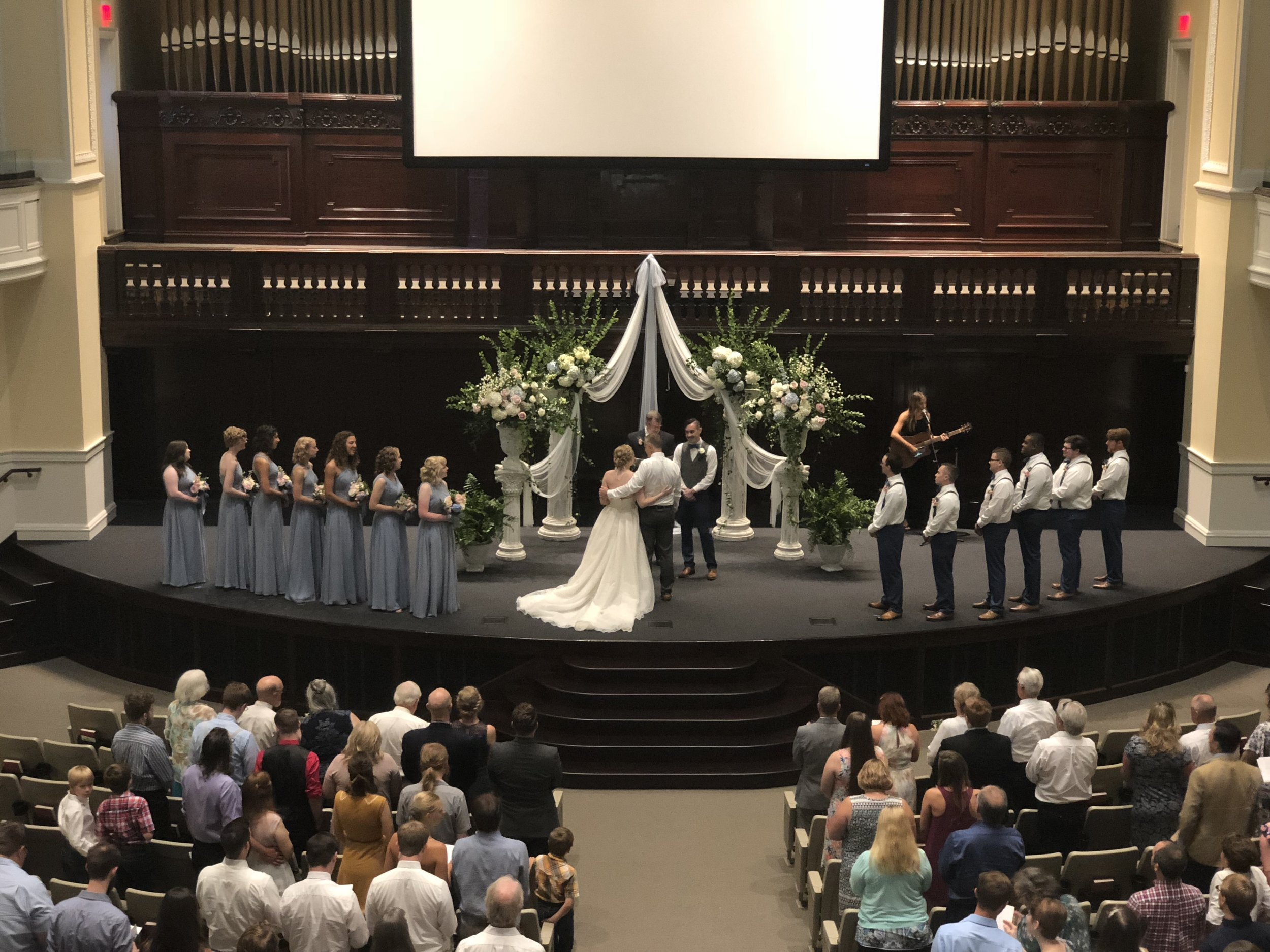 Wedding decor staged at historical Immanuel Baptist Church