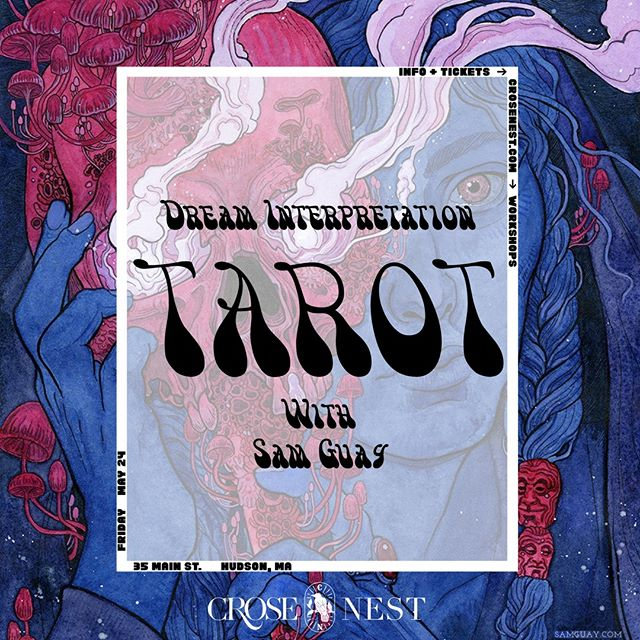 Come join me this Friday at the @crosenestcollective for a workshop on exploring your dreams and interpreting them with tarot! Bring your favorite tarot or oracle deck and a journal. Tix are available via @crosenestcollective's site.⠀ ⠀ Hope to see you there!⠀ ⠀ ⠀ ⠀ #samguayart #bloodmoontarot #witchesofinstagram #occultart #darkart #esotericart #darkartist #tarot #tarotart #tarotartist #tarotdeck #tarotcards #spiritualgrowth #personalgrowth #dreaminterpretation⠀ #occultism #occultartists #occultist #witchyvibes #witchaesthetic #witchlife #witchylife #witchessociety #witchvibes #witchsociety #witchythings #witchy #witchcraft #witchery