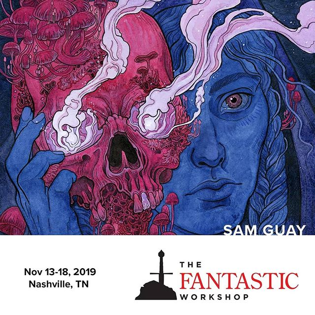 Hey everyone! I'm so excited to be a part of this year's Fantastic Workshop hosted by @samuelflegal and @petemohrbacher. I'll be in the company of some amazing artists... @vanessalemen, @seanandrewmurray, @mouseguard, @vonnart, and more. Come join us this November!  #fantasyartist #fantasyart #onefantasticweek #onefantasticworkshop #1fw #artworkshop #surrealart #darkart #occultart #esotericart #occultism #selfcare #selfcareforartists #personalgrowth #creativityworkshop #businessworkshop #samguay