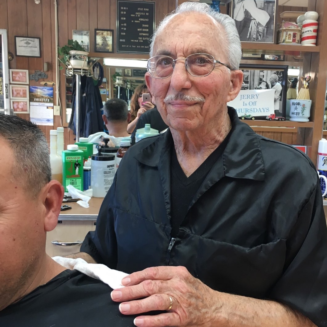 Jerry began working at the Grand Barber Shop in 1970. A proud veteran of our armed forces, having served in Korea and Japan with the U.S. Marine Corps.