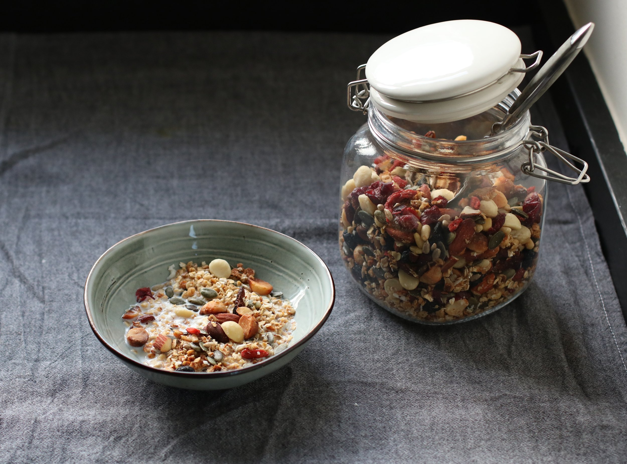 HONEY & OAT GRANOLA   All year round.  A hearty homemade cereal packed with the good stuff.