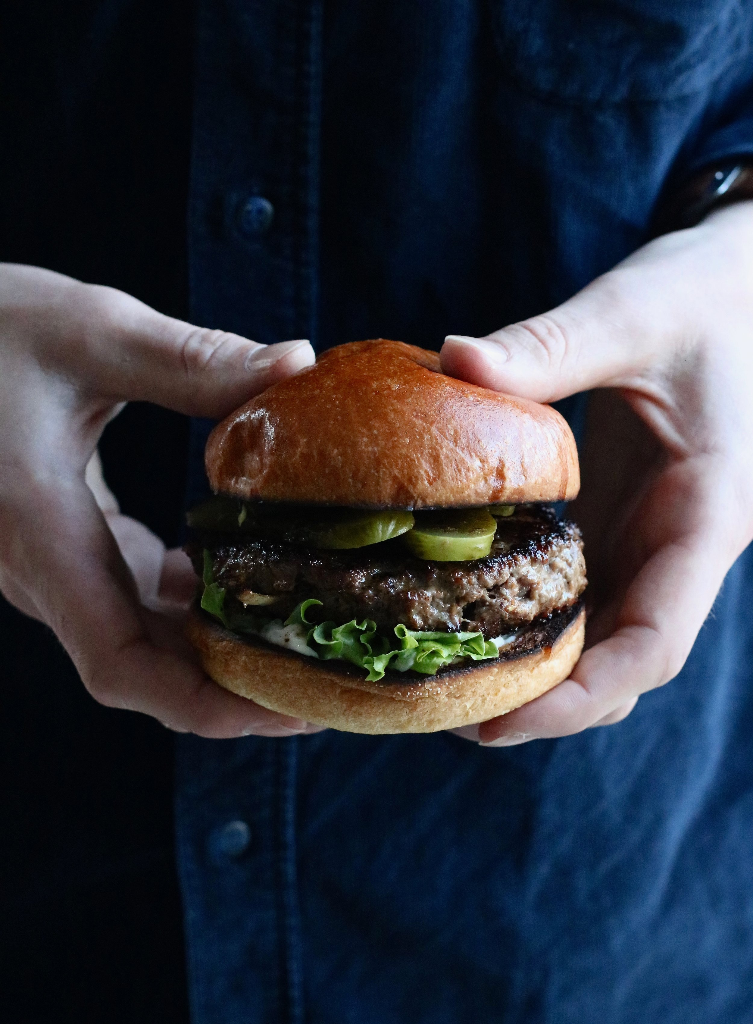 VENISON BURGER   August-February . Juicy venison in a generous patty with brioche buns.
