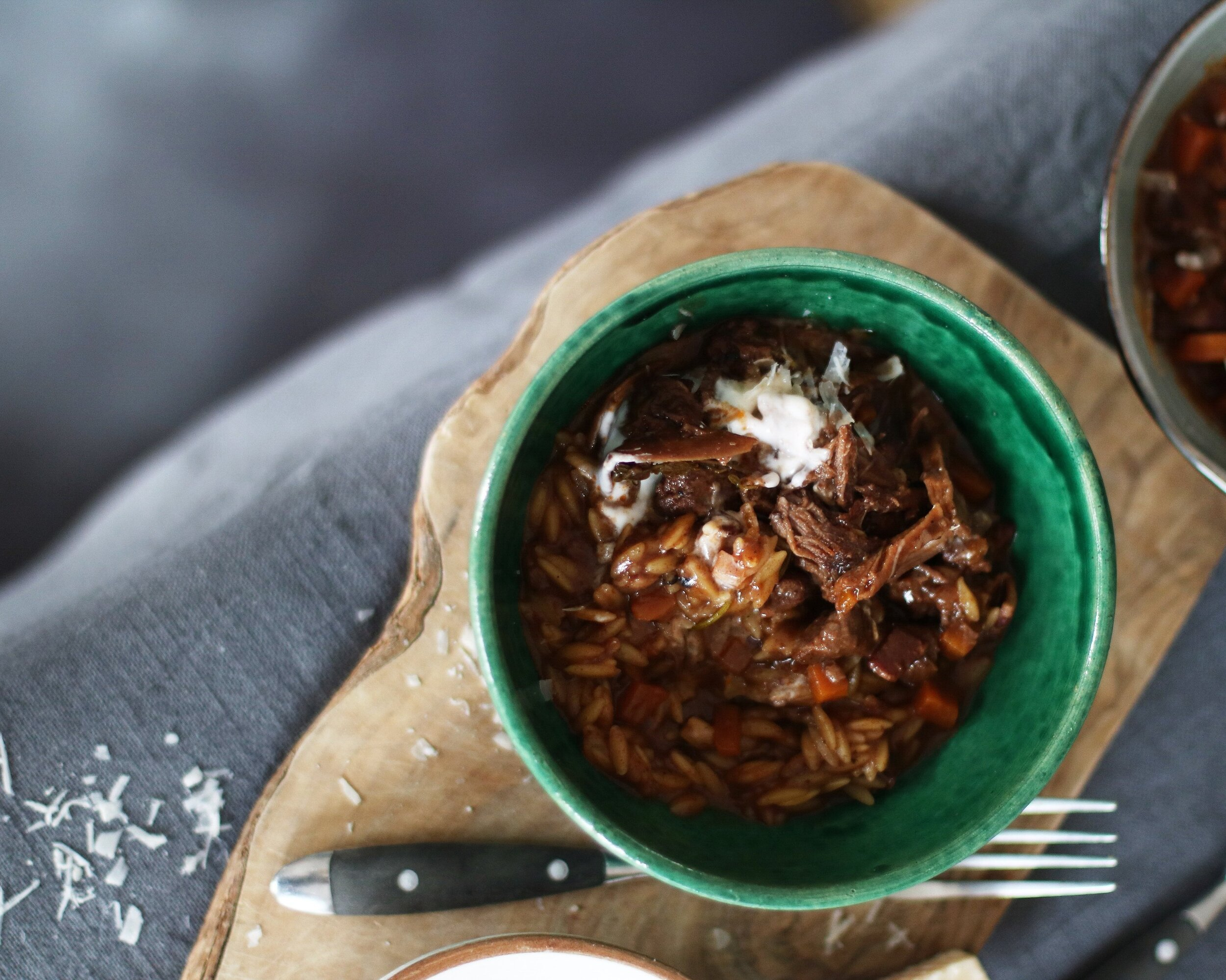VENI & PORCINI ORZO   An autumnal feast showcasing the best of England and Scotlands wild woodland ingredients.