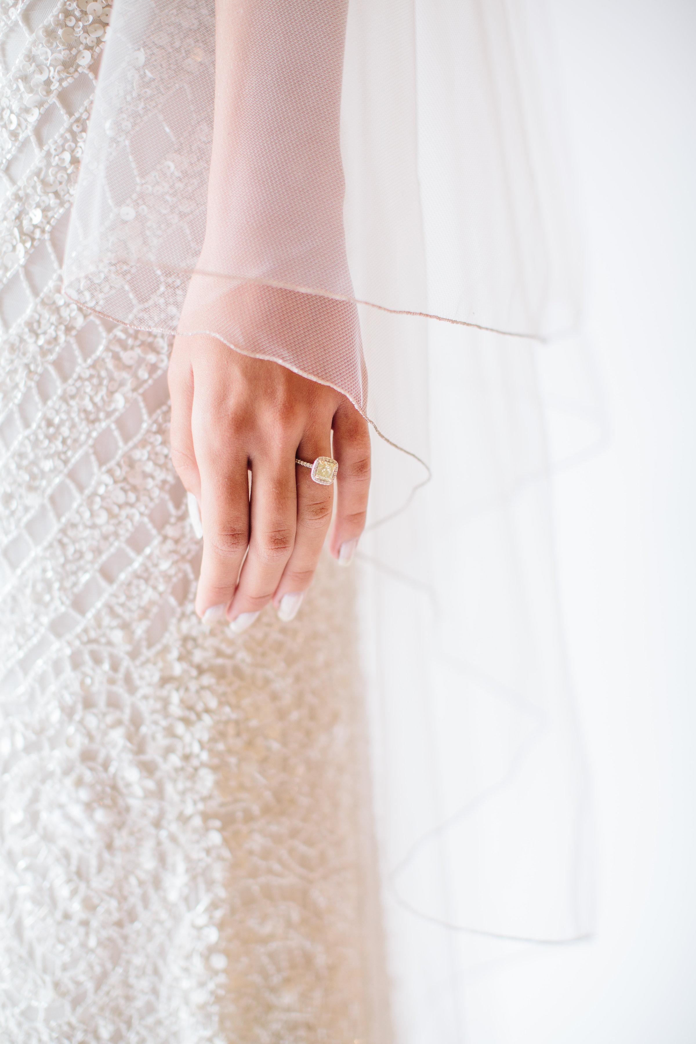 rosegold bridal veil