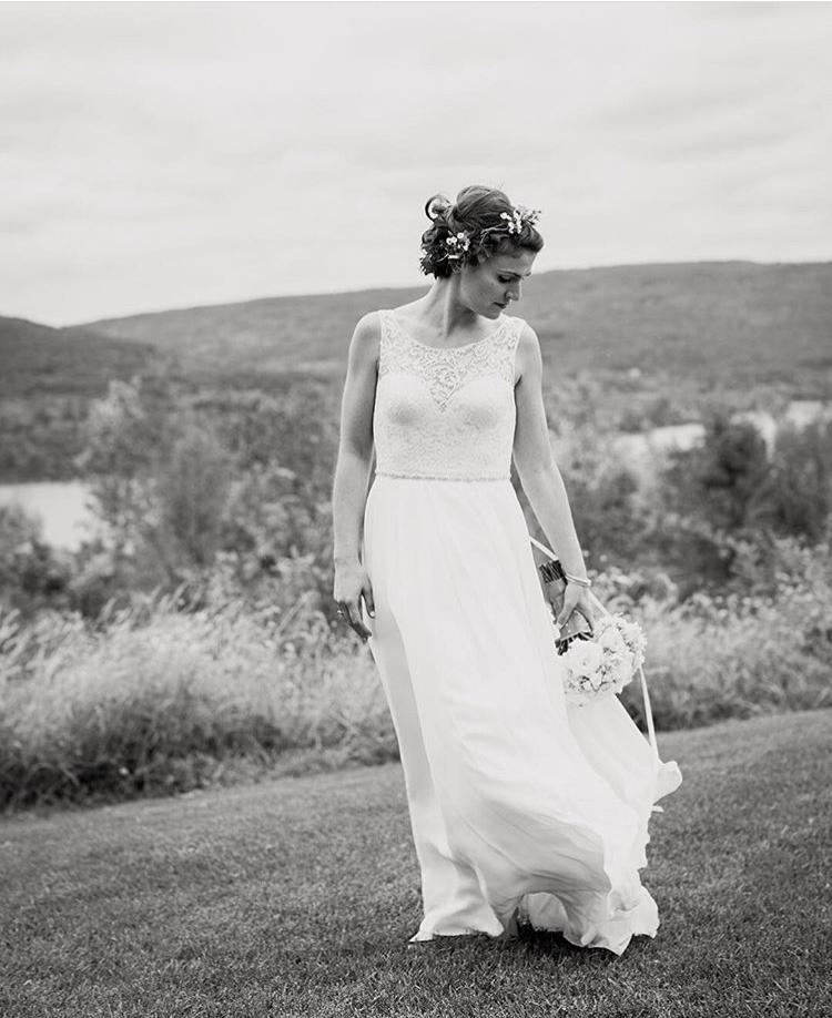 Wear a bridal hair vine as a sash