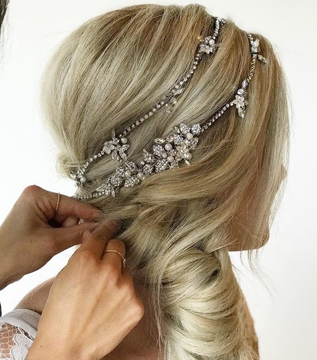 Wear a bridal hair vine in braid