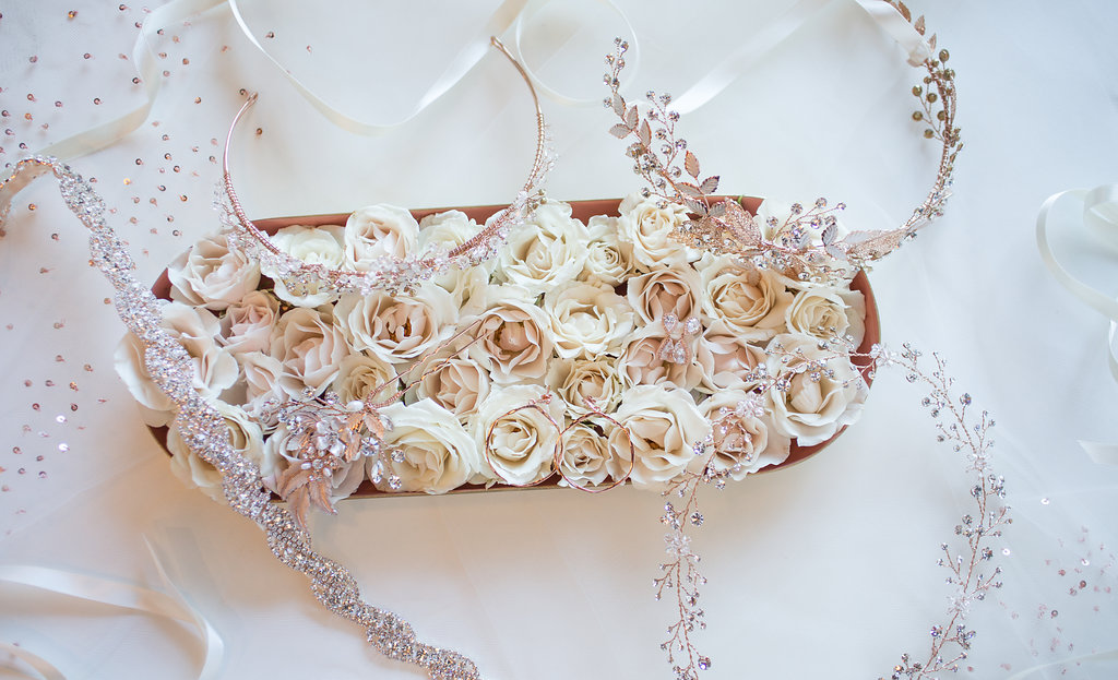 rosegold wedding accessories