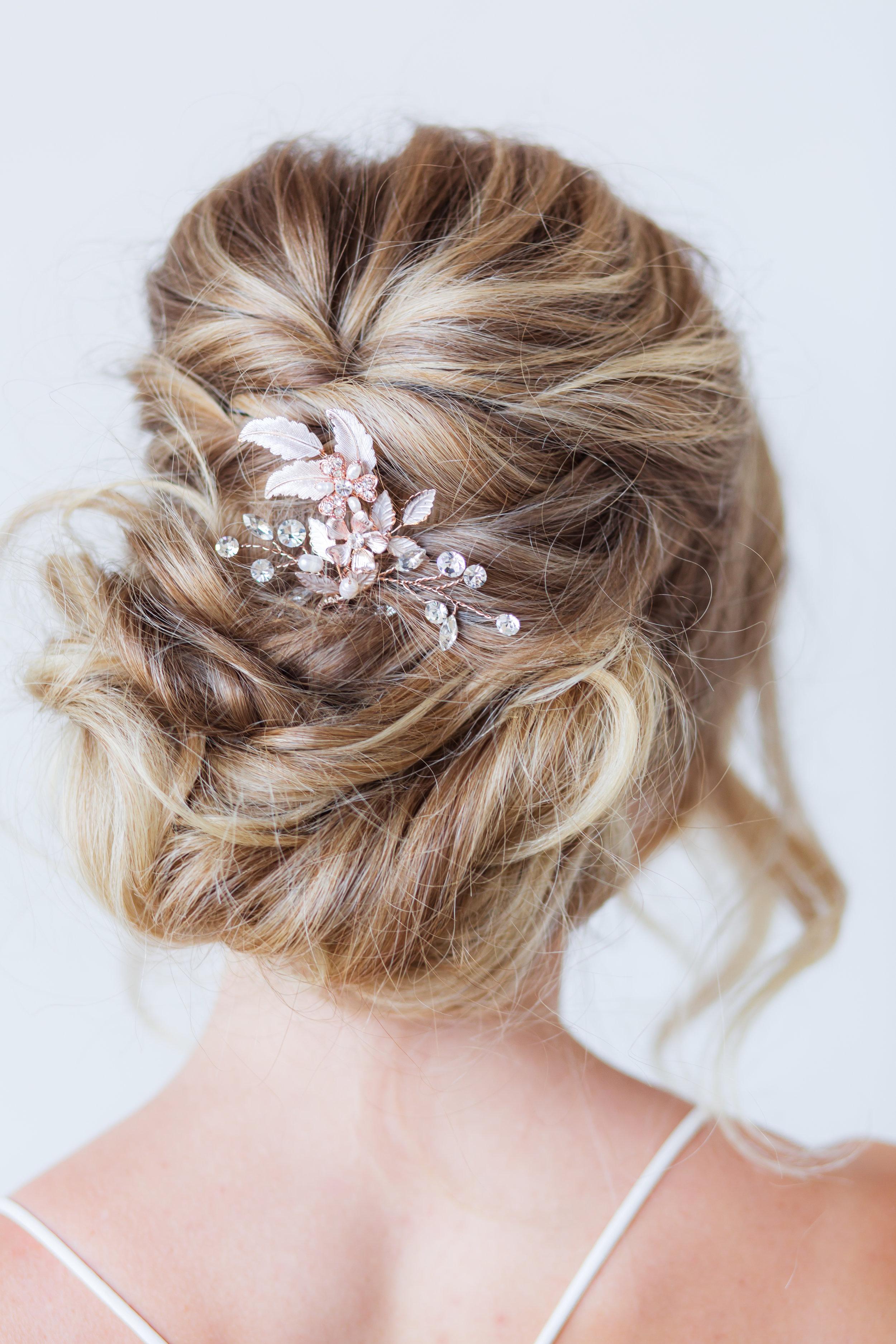 rosegold wedding accessories