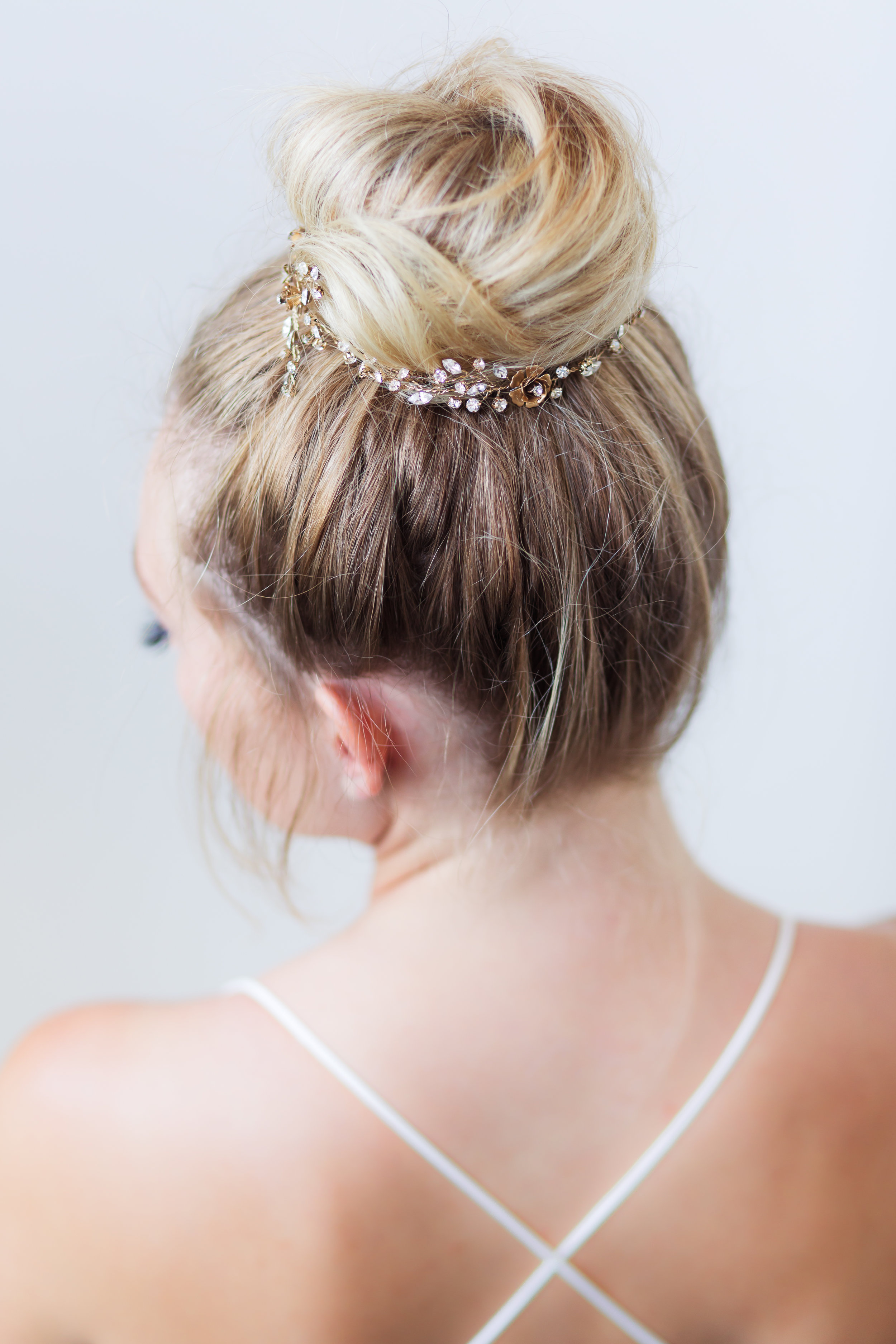 Wear a bridal hair vine in updo