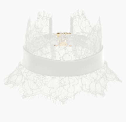 Silk and lace collar, £95 by Luna Mae
