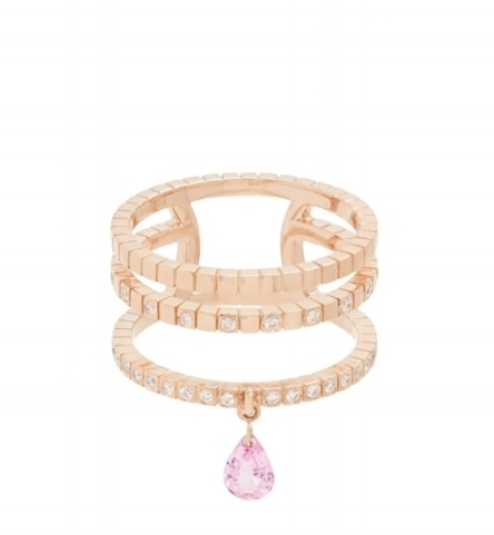 Gold, diamond and pink sapphire ring, £2,327 by Diane Kordas